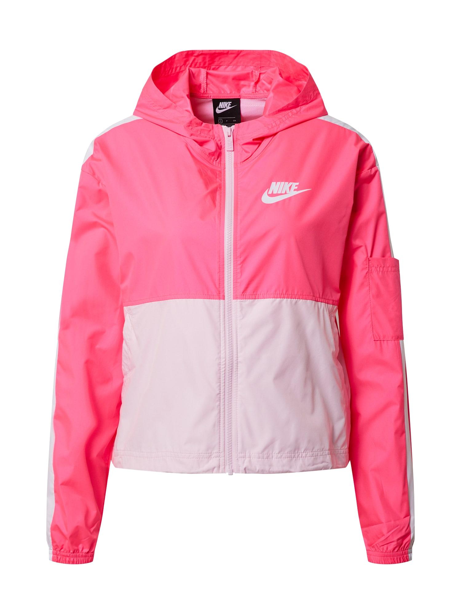 Nike Sportswear Športová bunda  biela / ružová