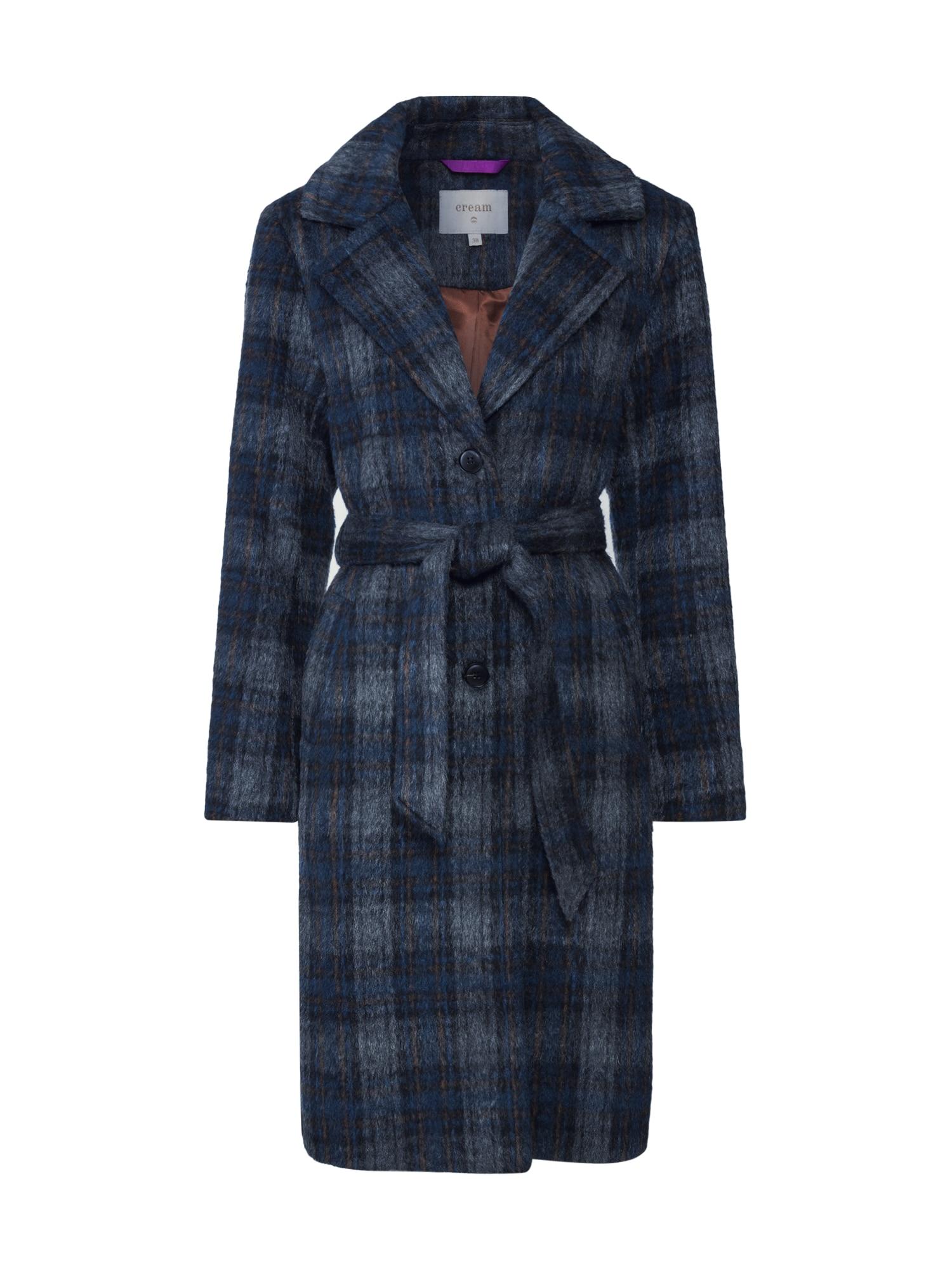 Cream Rudeninis-žieminis paltas 'Chekia' mėlyna / juoda