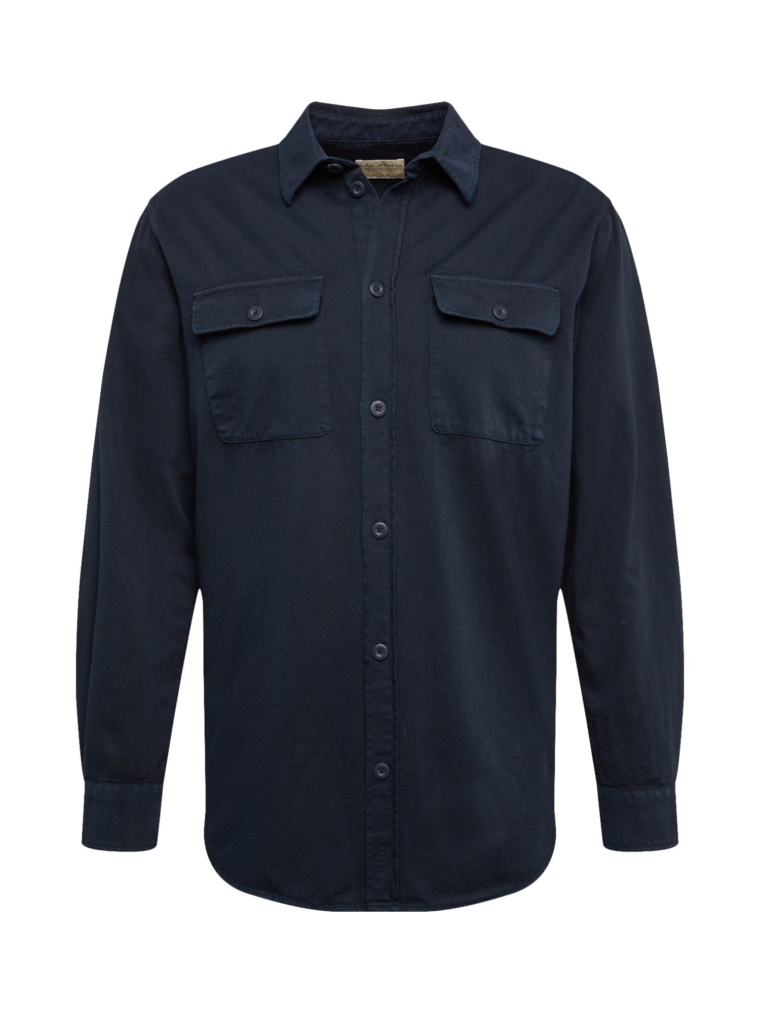 Košile Gabriel námořnická modř Nudie Jeans Co
