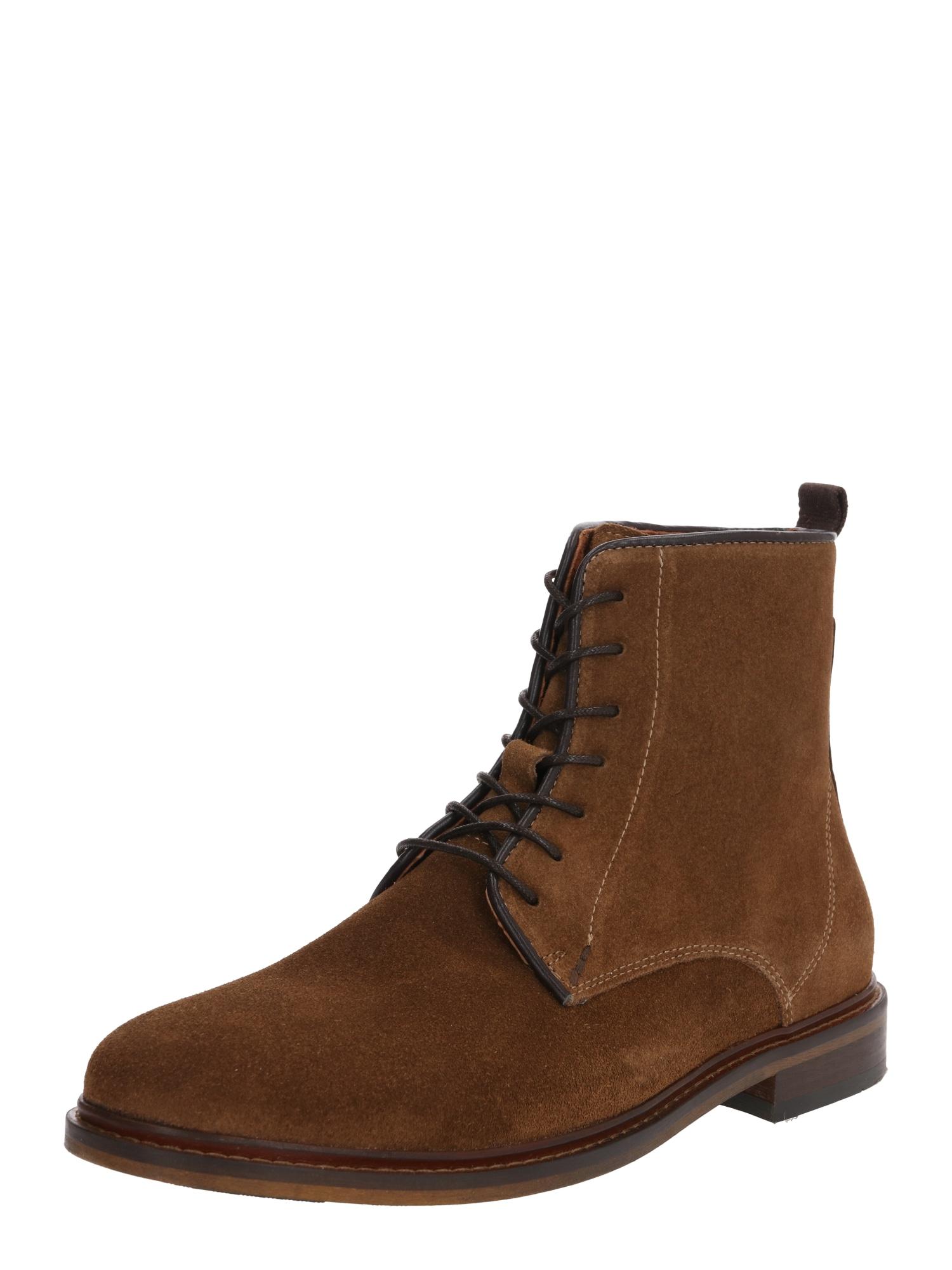 Shoe The Bear Fűzős csizma 'NED S'  barna