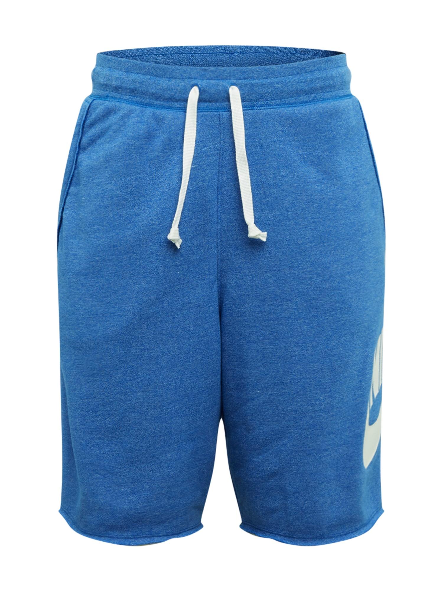 Nike Sportswear Nohavice  biela / kráľovská modrá