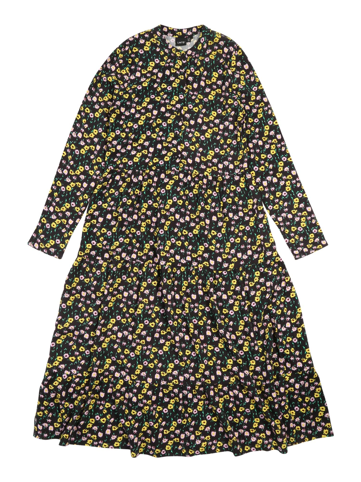 Kinder,  Mädchen,  Kinder LMTD Kleid gelb,  schwarz | 05714490294553