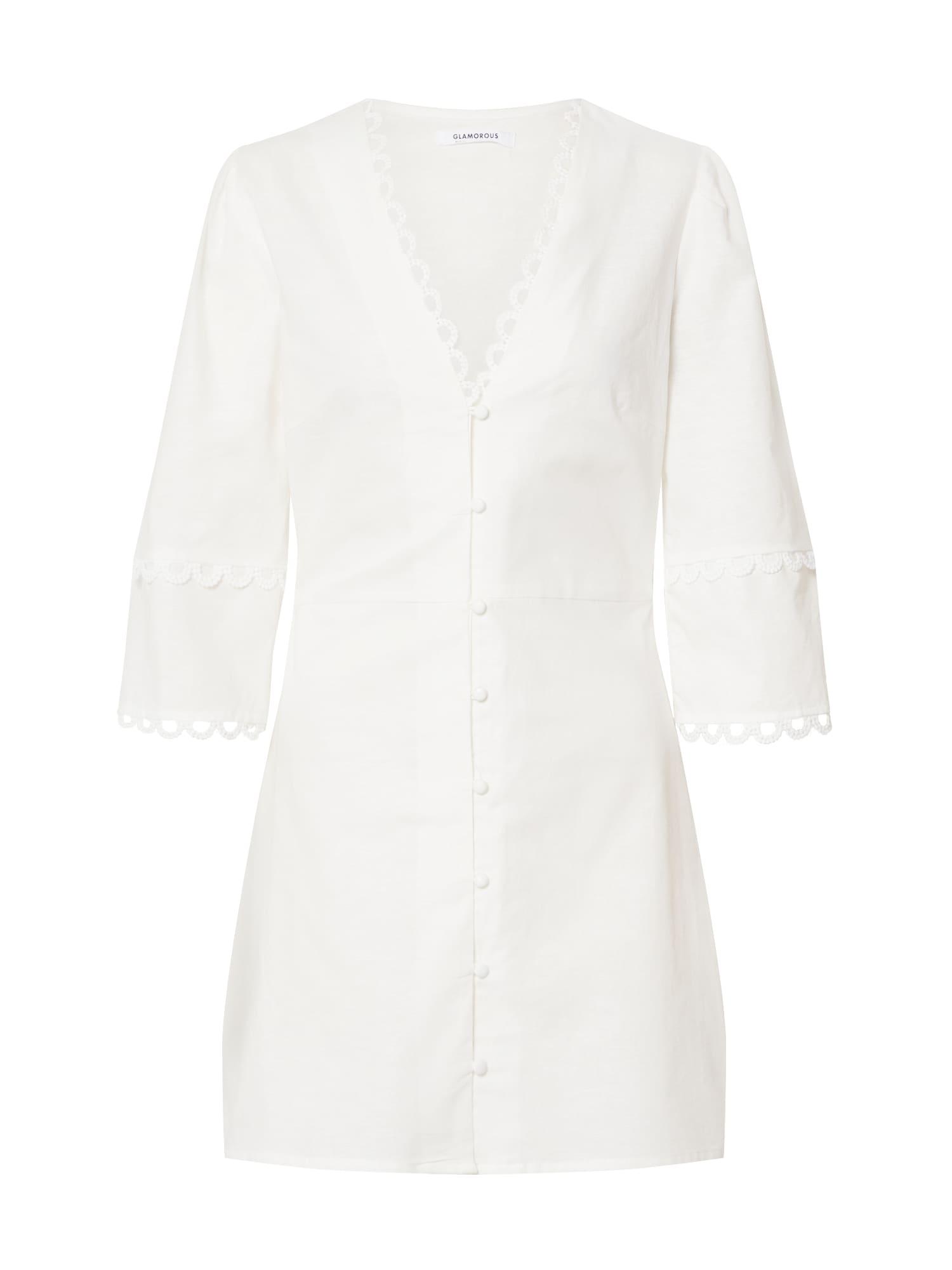 GLAMOROUS Vakarinė suknelė balta