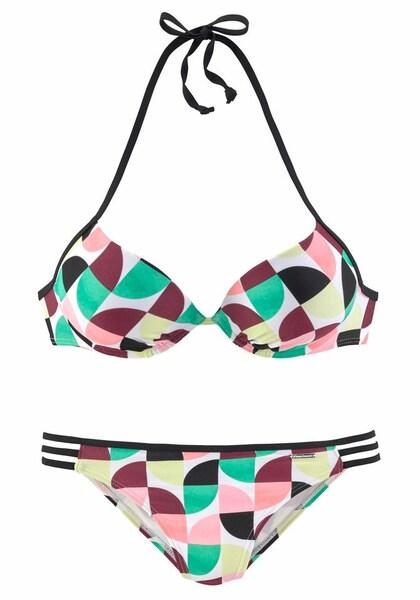 Bademode für Frauen - BRUNO BANANI Push up Bikini hellgelb mint mischfarben altrosa bordeaux schwarz weiß  - Onlineshop ABOUT YOU