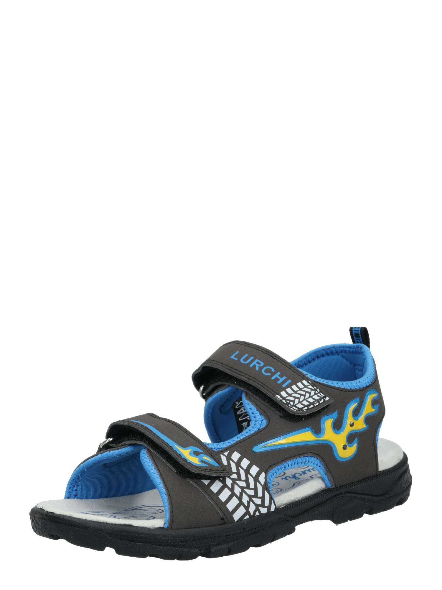 LURCHI Atviri batai 'KUBY' juoda / mėlyna
