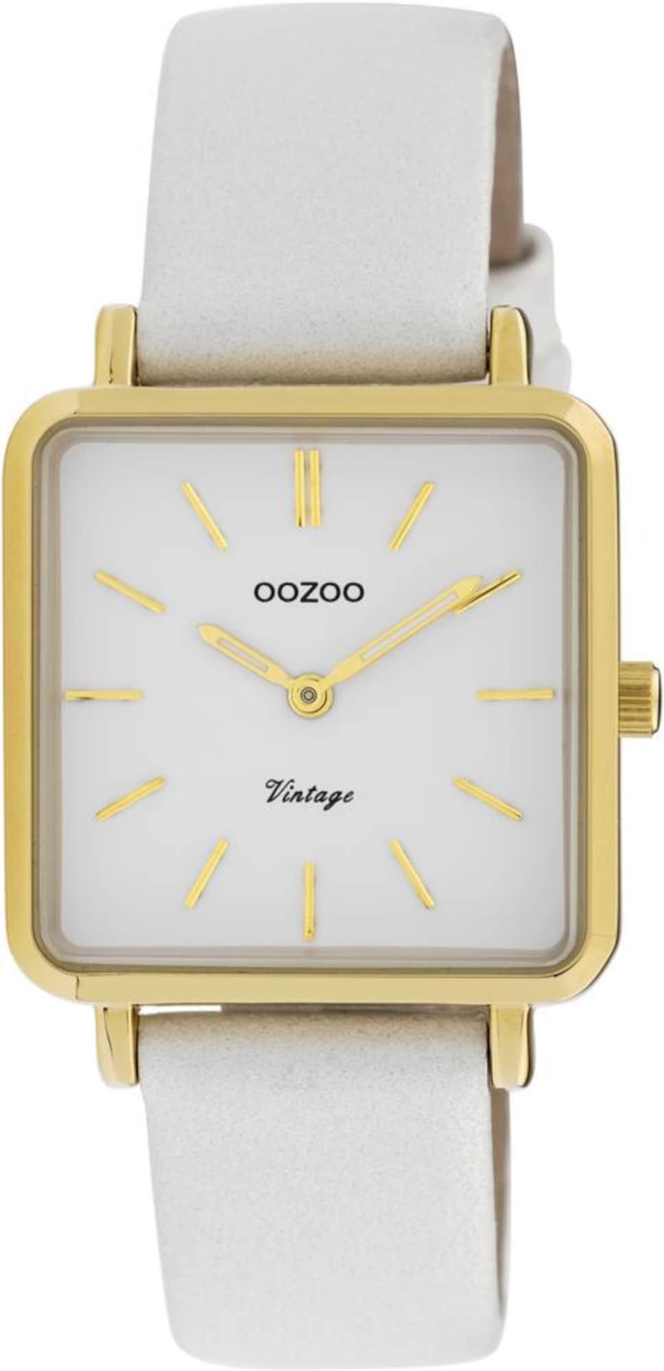 Damen OOZOO Quarzuhr 'C9940' gold,  weiß | 08719929012668