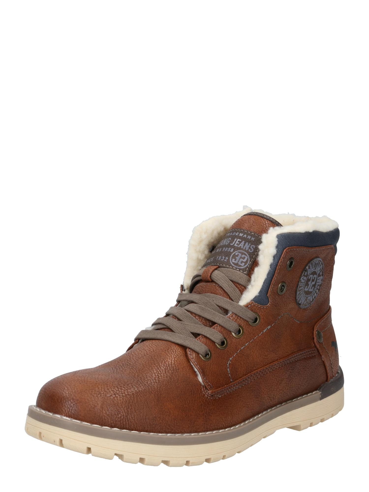 MUSTANG Auliniai batai su raišteliais ruda (konjako)