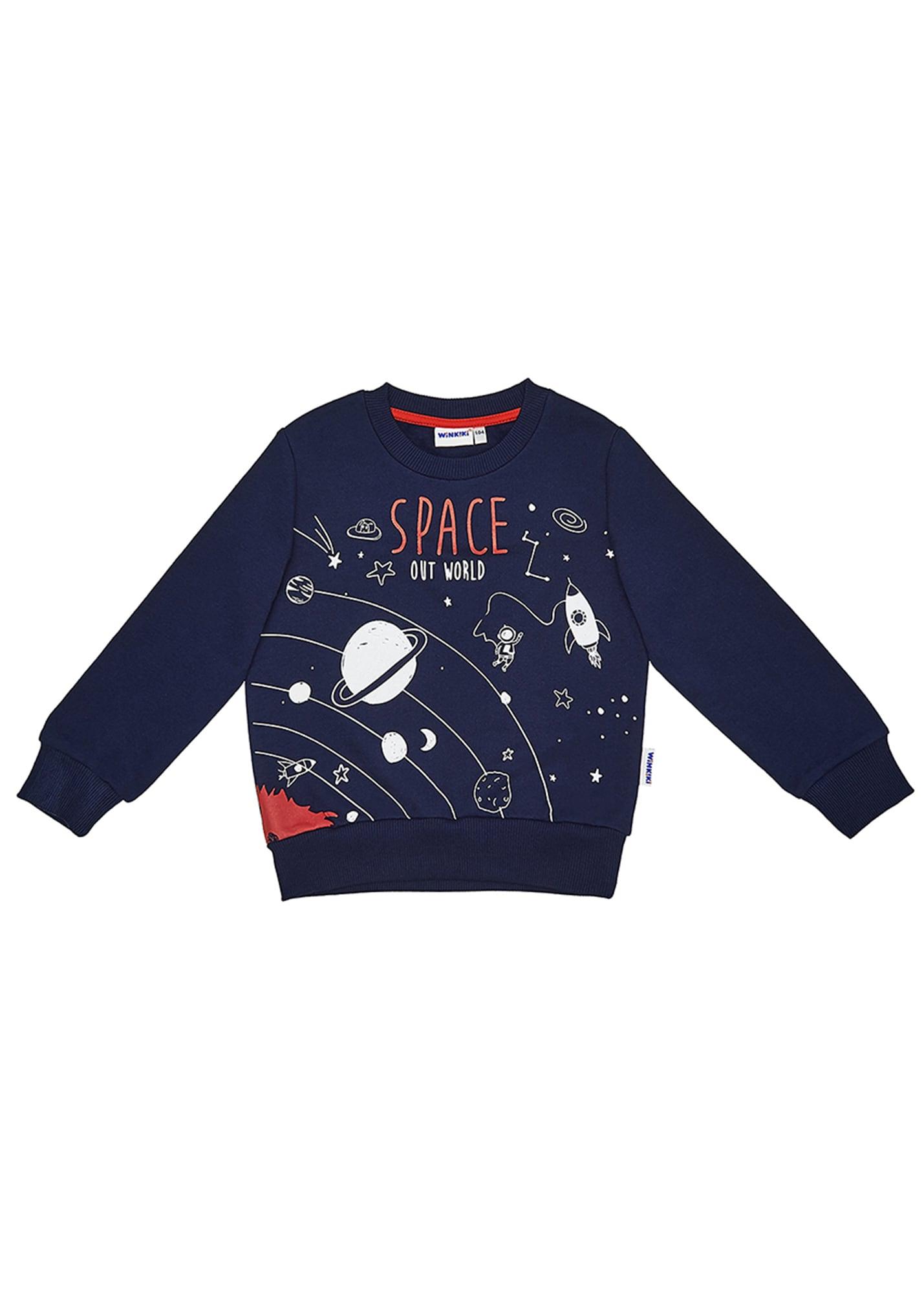 Jungen,  Kinder,  Kinder WINKIKI Sweatshirt blau,  rot,  weiß, schwarz | 08595687105008