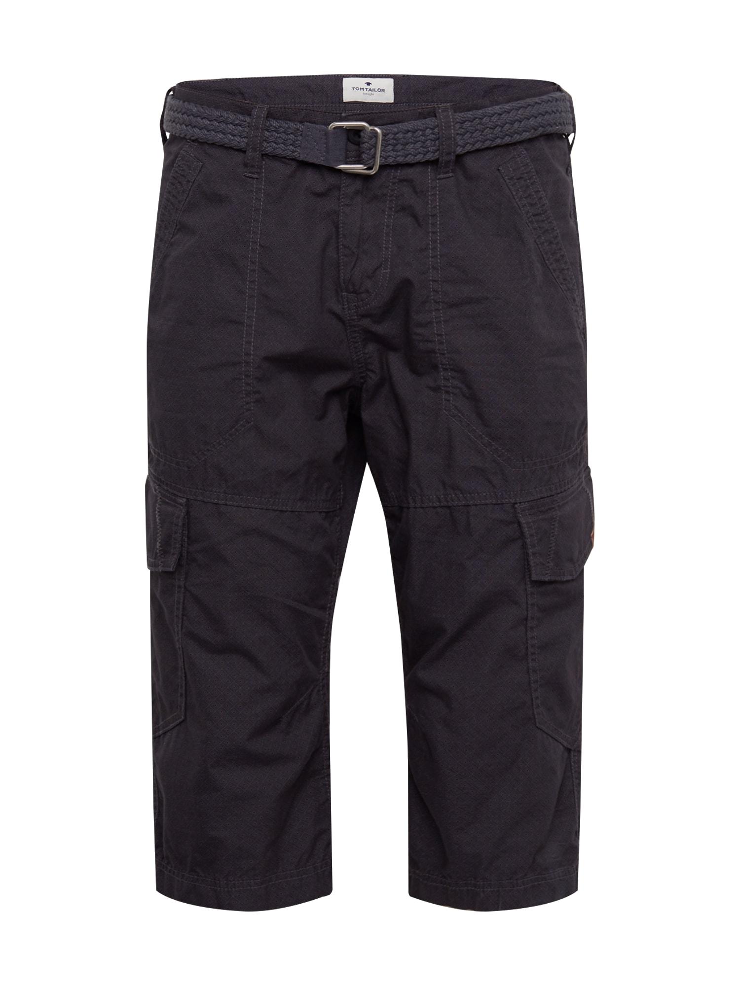 TOM TAILOR Chino nohavice  čierna melírovaná