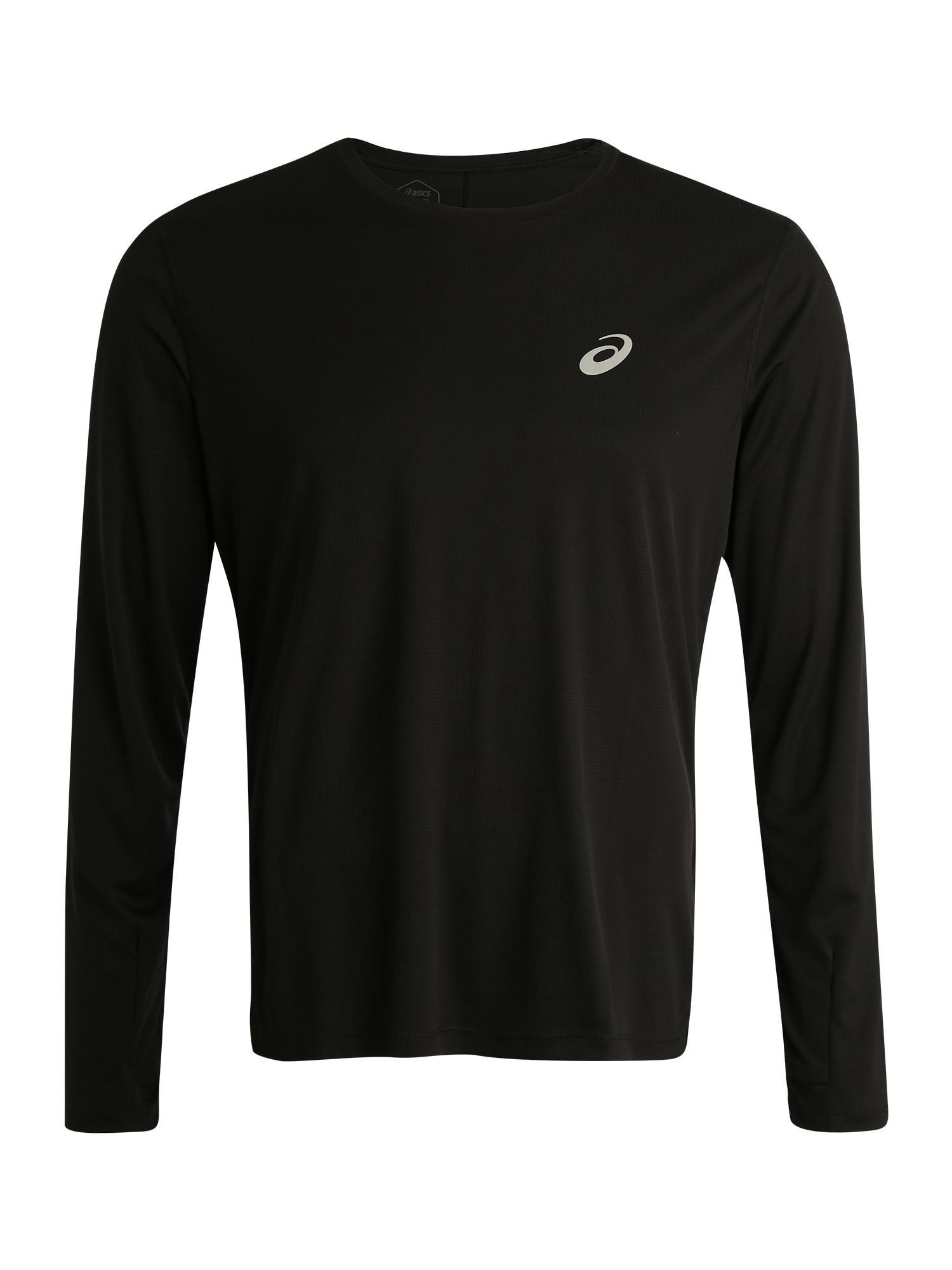 ASICS Sportiniai marškinėliai 'SILVER LS TOP' juoda