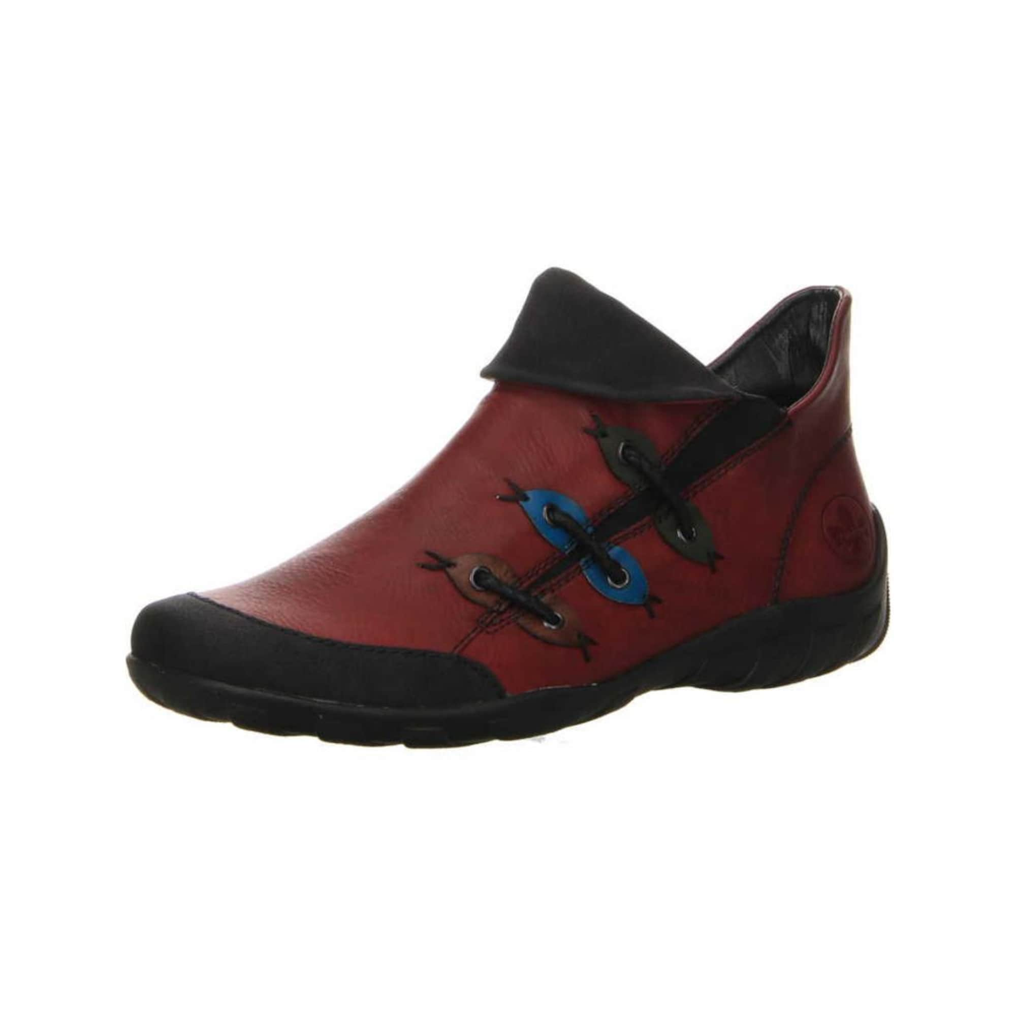 RIEKER Športové šnurovacie topánky  hrdzavo červená / čierna