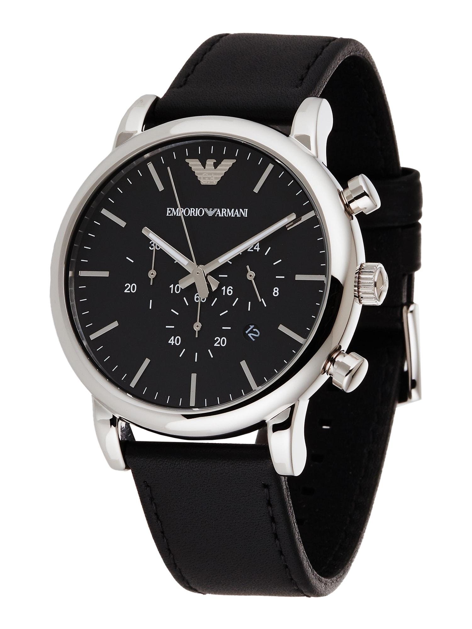 Emporio Armani Analoginis (įprasto dizaino) laikrodis 'AR1807' juoda