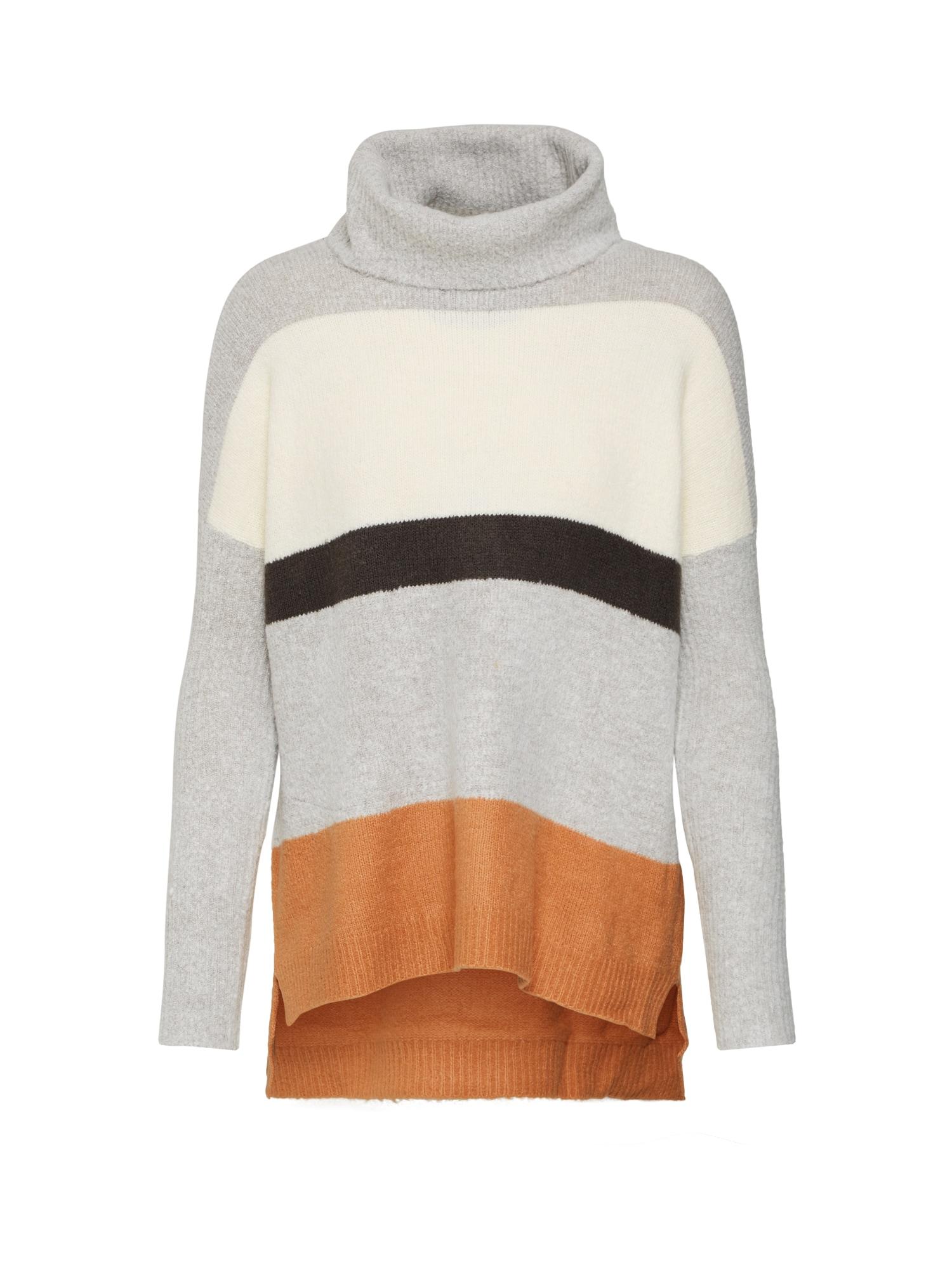 ABOUT YOU Megztinis 'Claire' kremo / šviesiai ruda / pilka