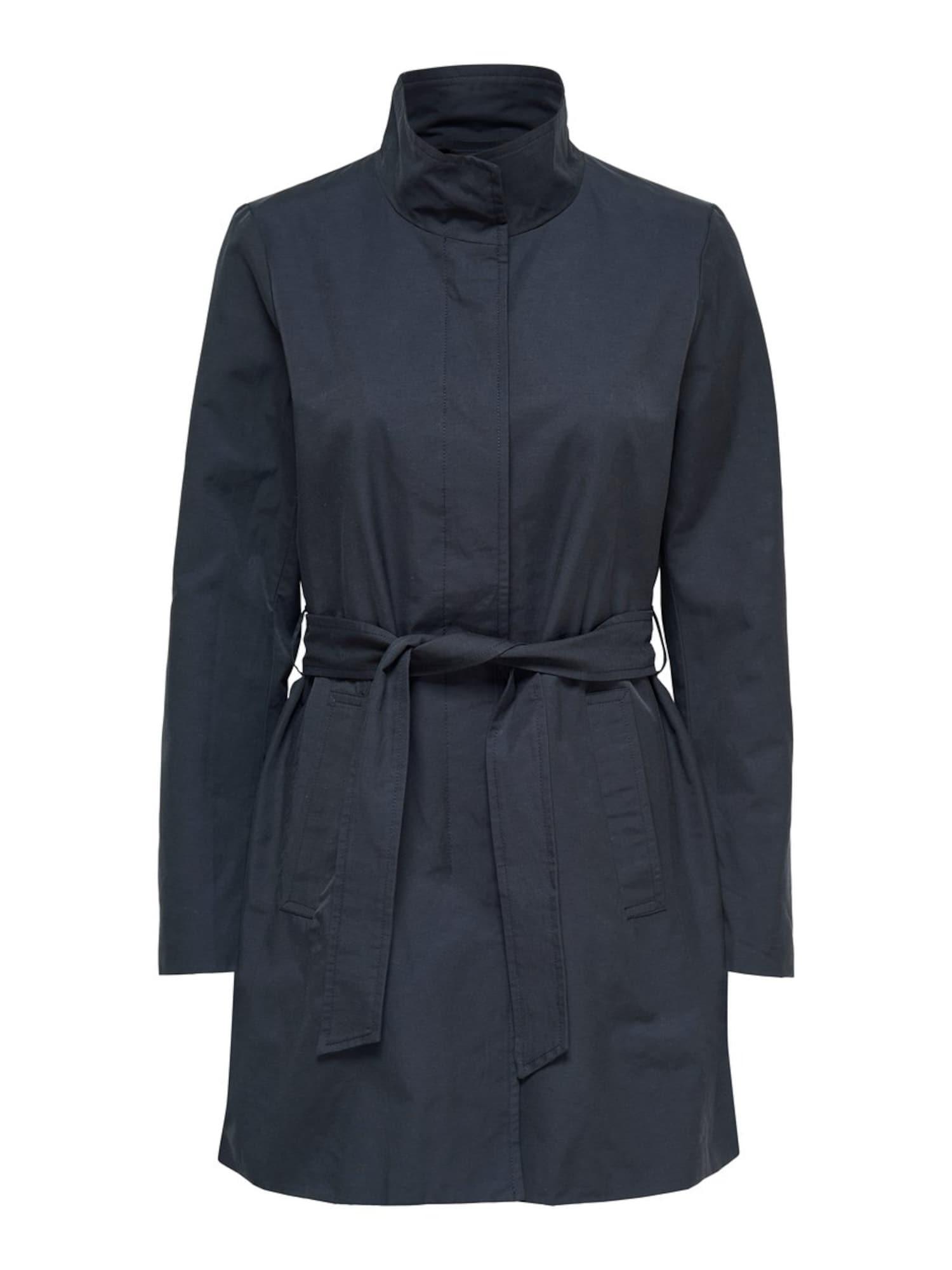 Přechodný kabát tmavě modrá ONLY