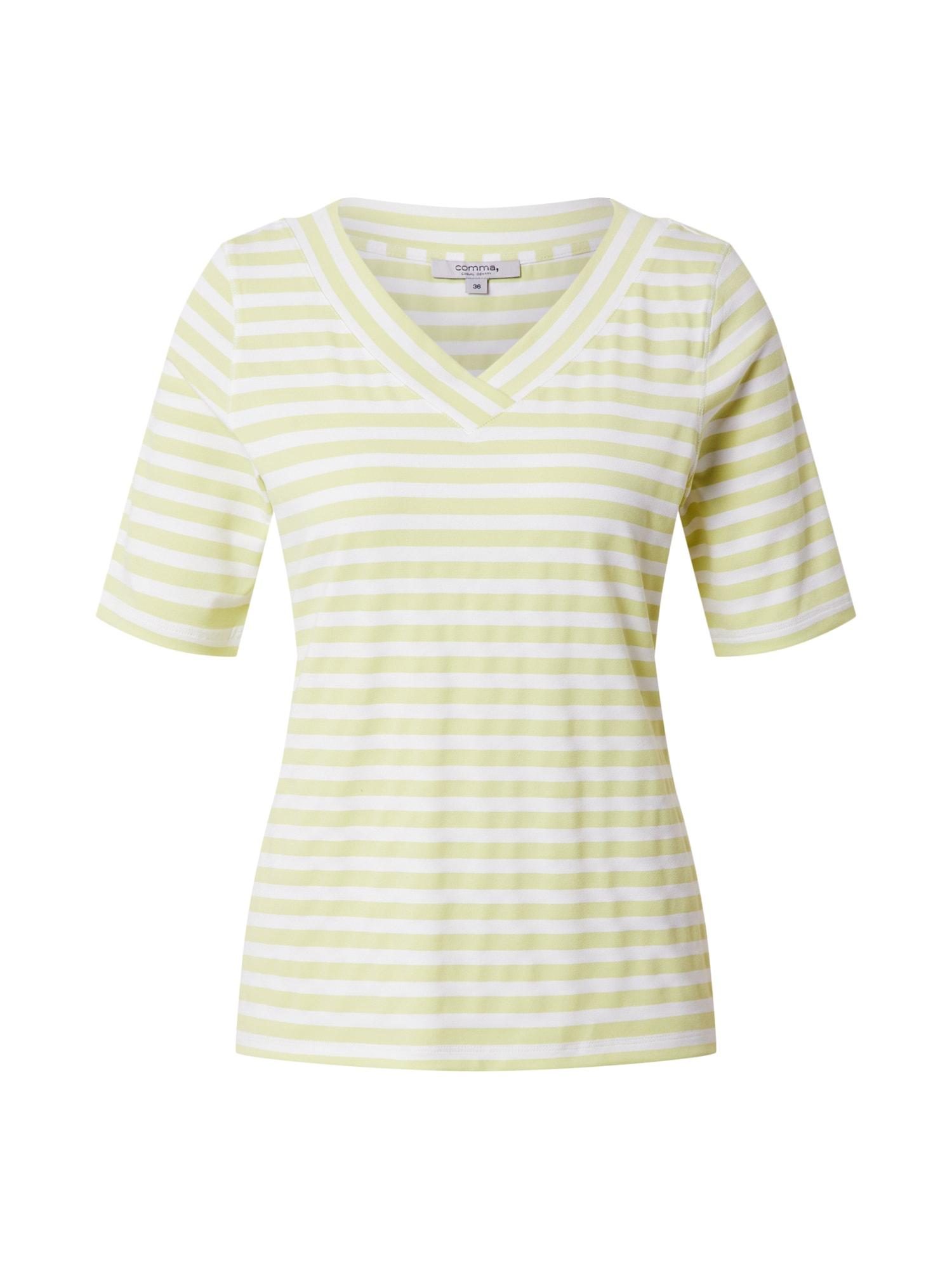 COMMA Marškinėliai citrinos spalva / balkšva
