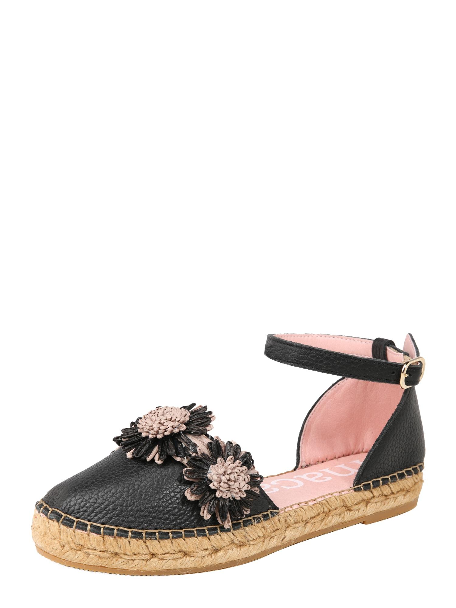 Sandály MAR 51 béžová černá MACARENA