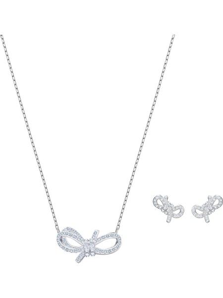 Schmucksets für Frauen - Swarovski Schmuckset 'Lifelong Bow 5470594' azur silber  - Onlineshop ABOUT YOU