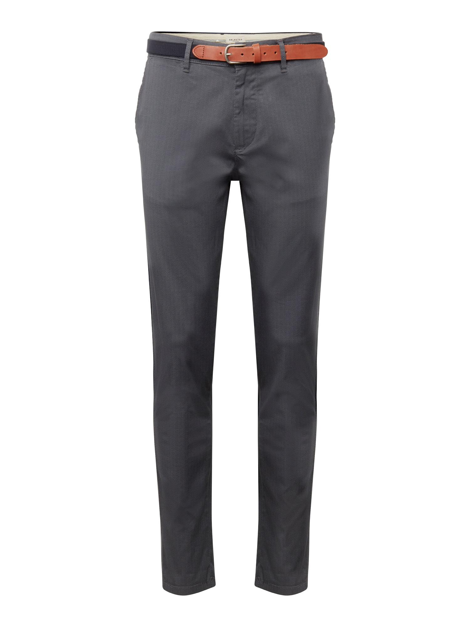 Chino kalhoty tmavě šedá SELECTED HOMME