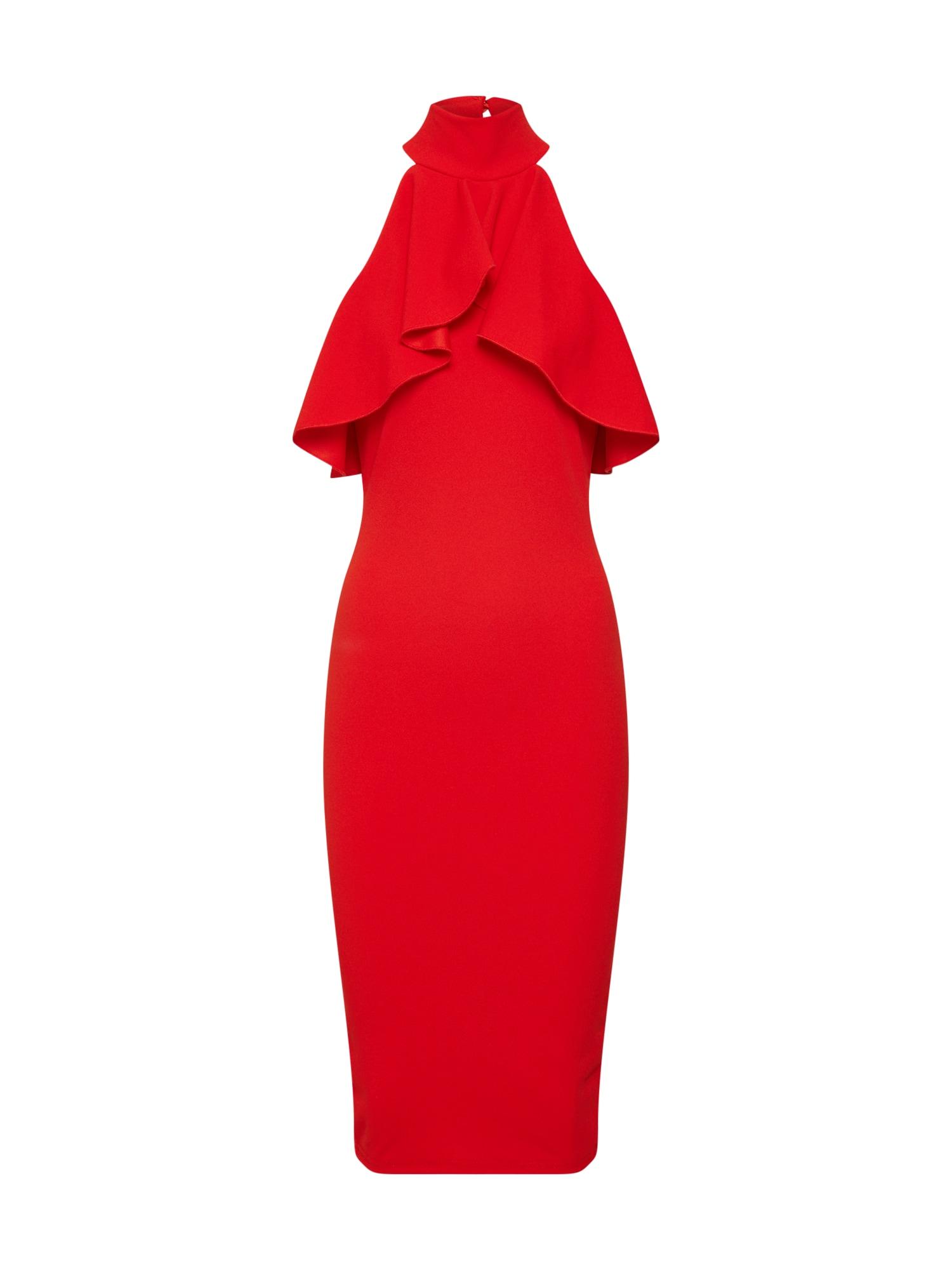 Missguided Kokteilinė suknelė raudona