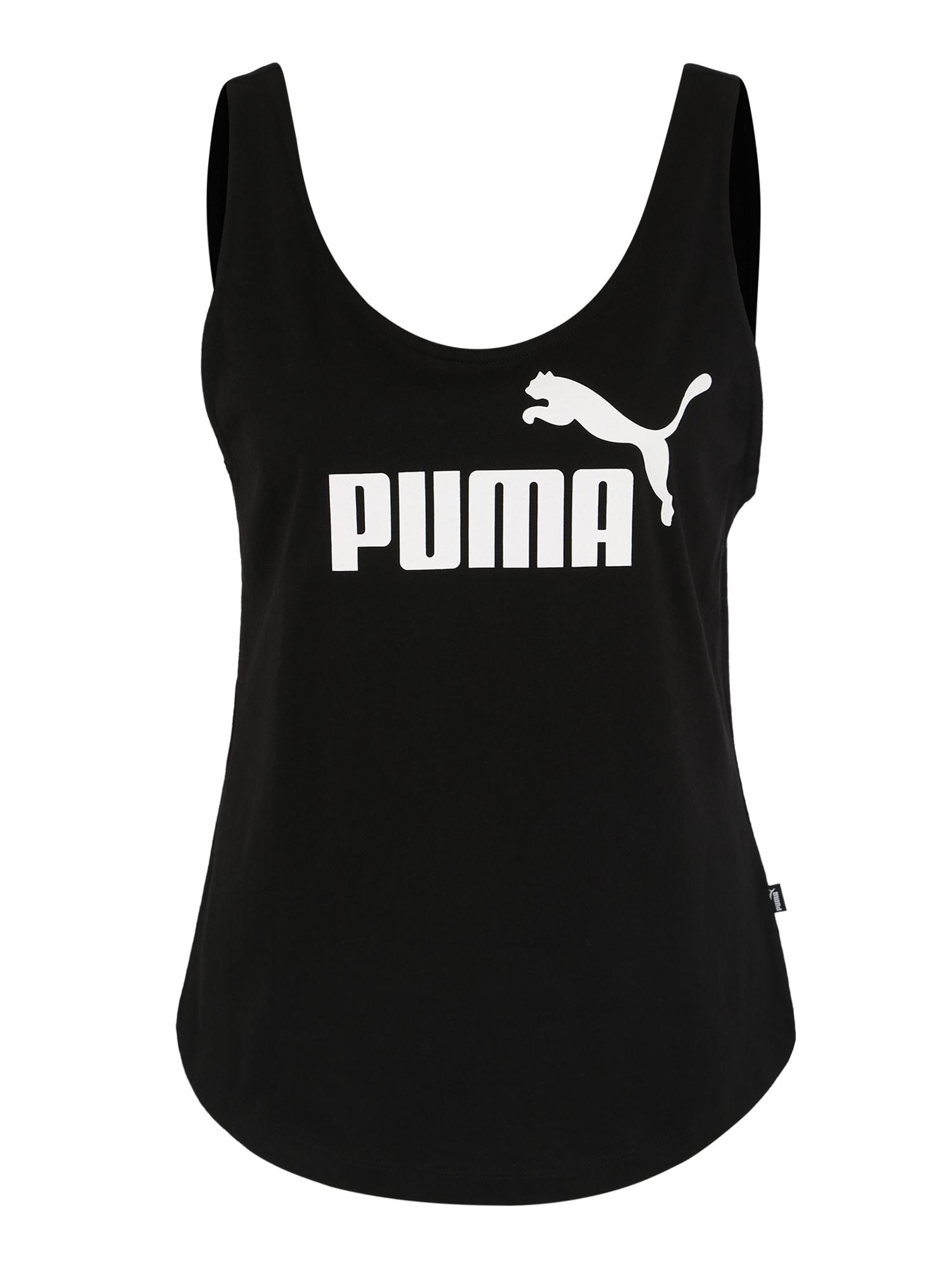 Sportovní top černá bílá PUMA