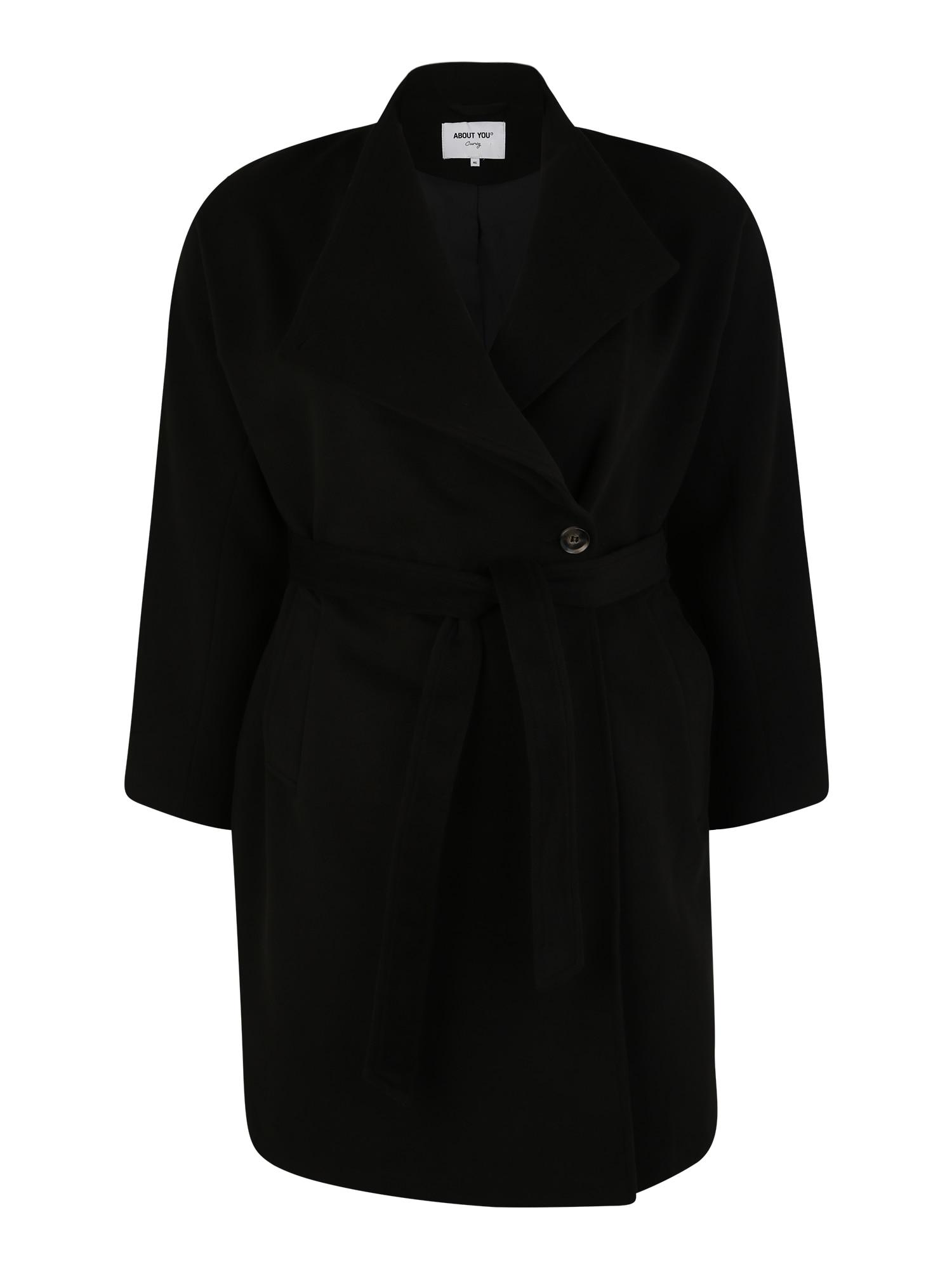 ABOUT YOU Curvy Rudeninis-žieminis paltas 'Charis Coat' juoda