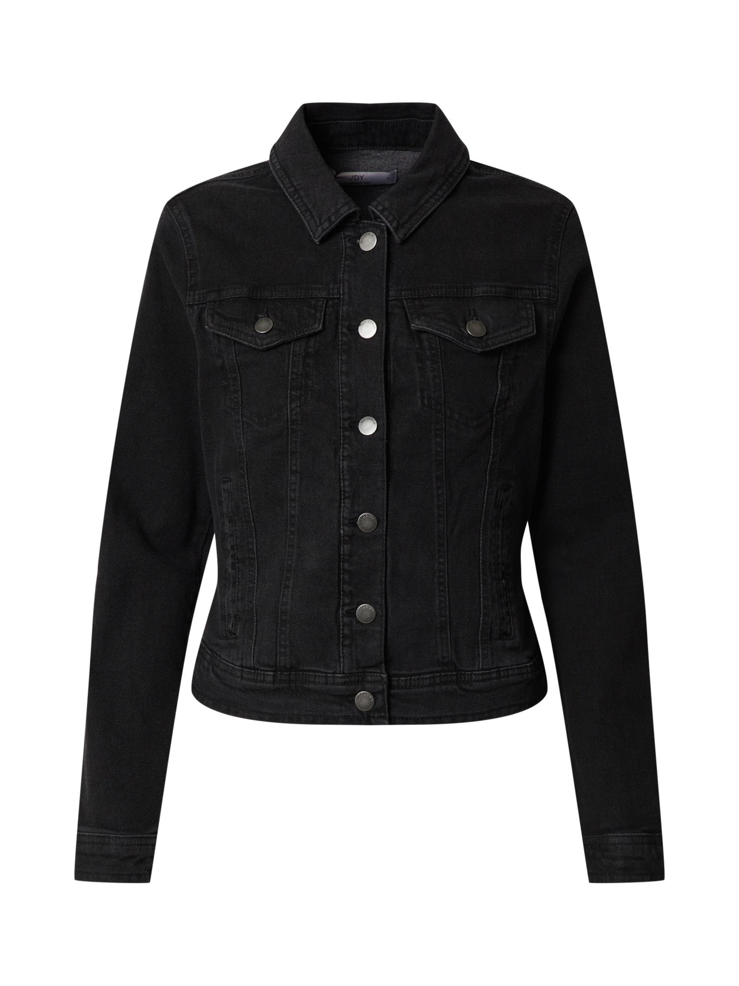 JACQUELINE de YONG Demisezoninė striukė juodo džinso spalva