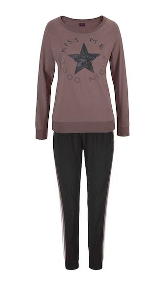 Waesche für Frauen - BUFFALO Pyjama braun schwarz weiß  - Onlineshop ABOUT YOU