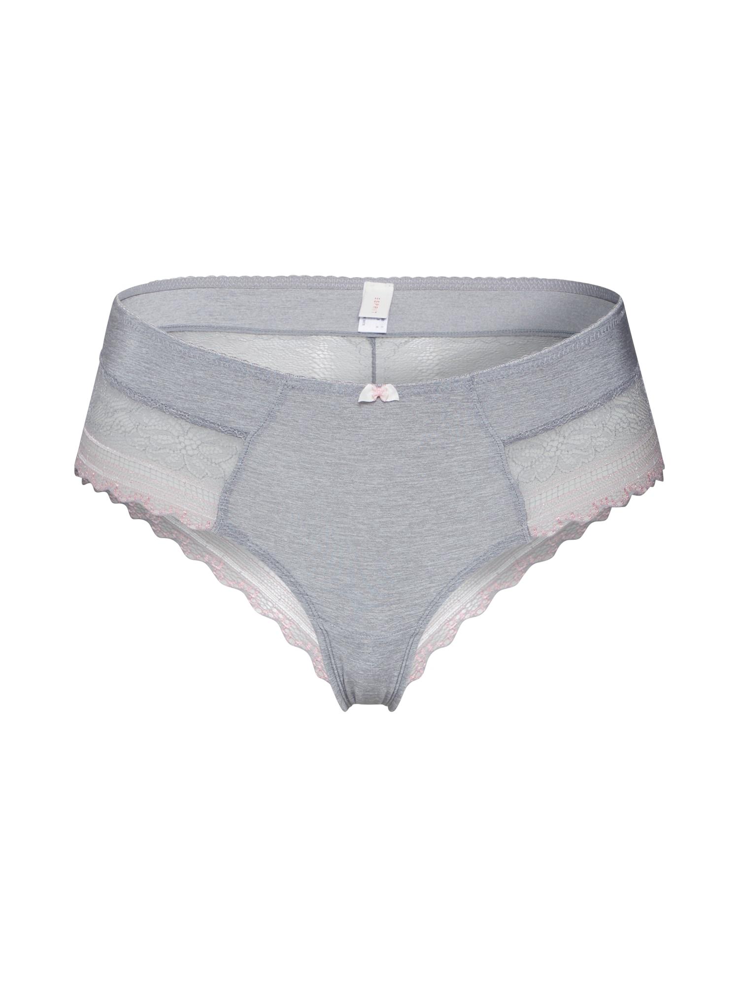 ESPRIT Moteriškos kelnaitės 'FLEUR Bottoms' šviesiai pilka / rožių spalva