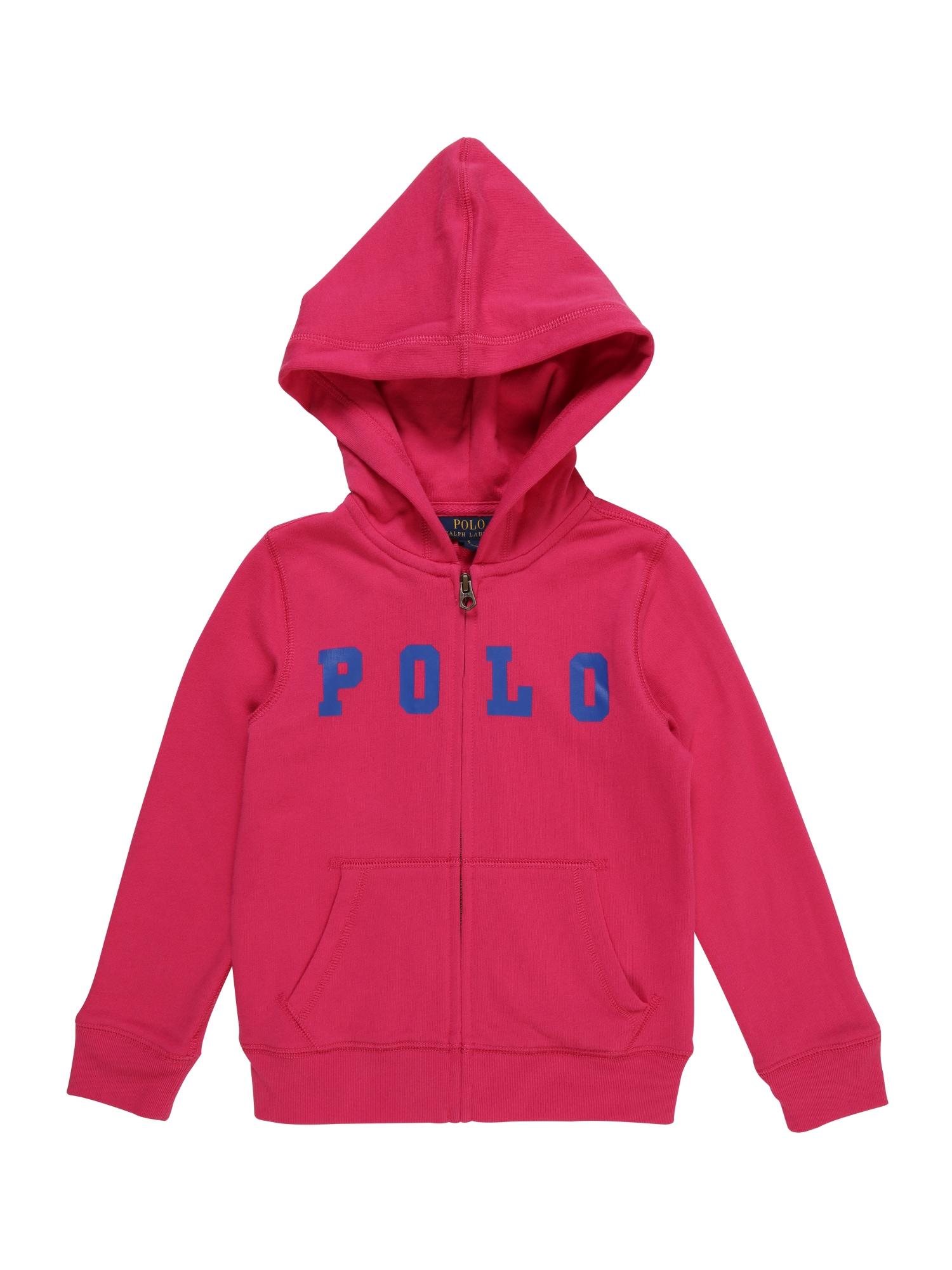 Mikina s kapucí ATLANTIC TERRY-POLO modrá pink POLO RALPH LAUREN