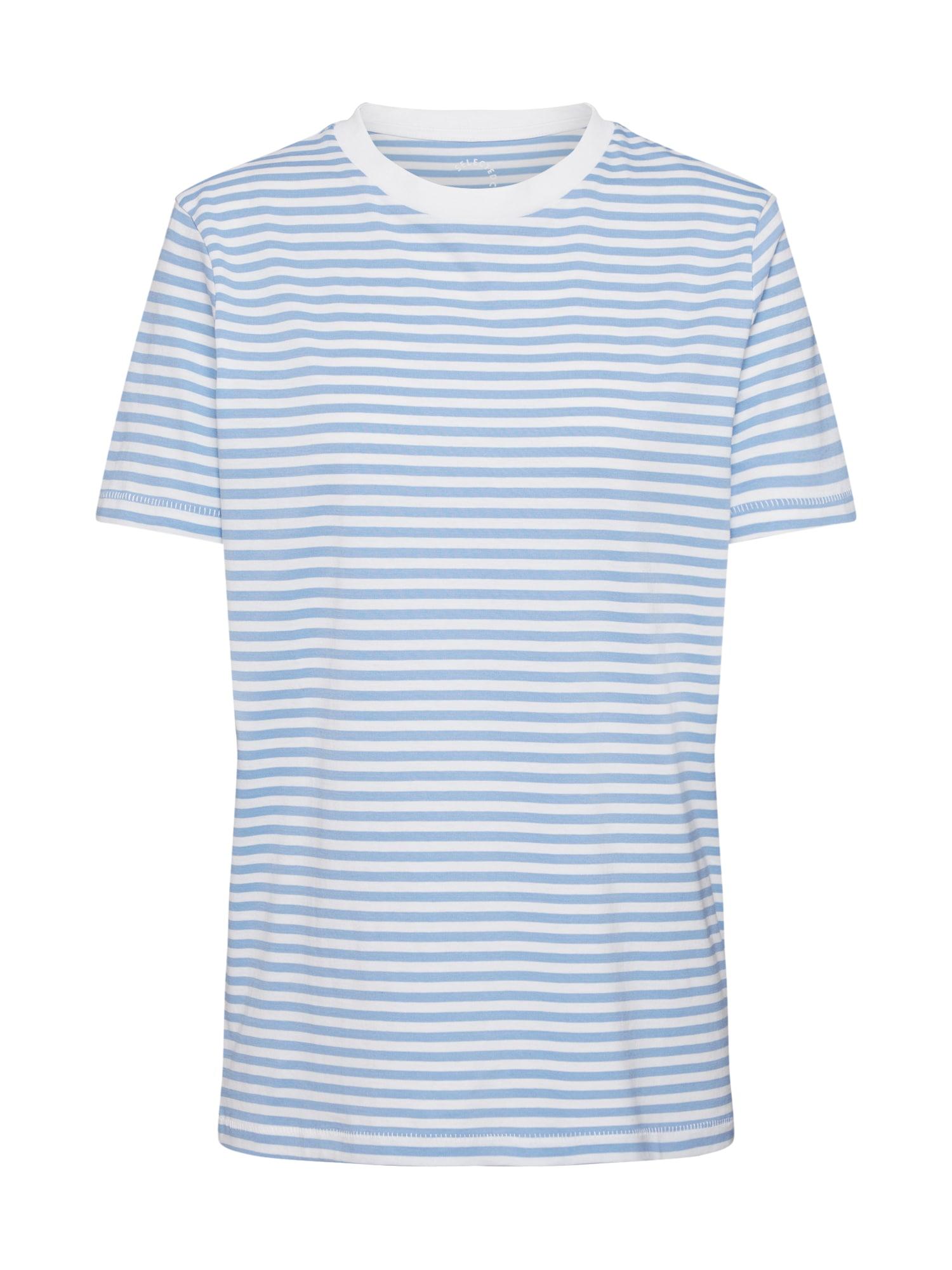SELECTED FEMME Tričko  biela / svetlomodrá