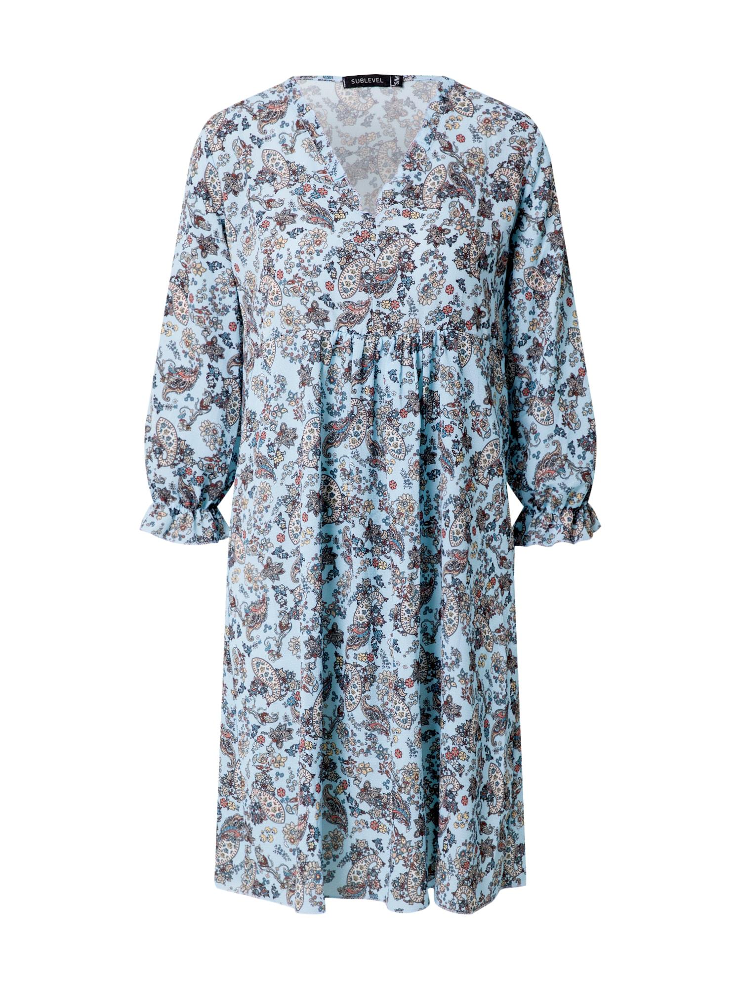 Sublevel Suknelė šviesiai mėlyna / mišrios spalvos