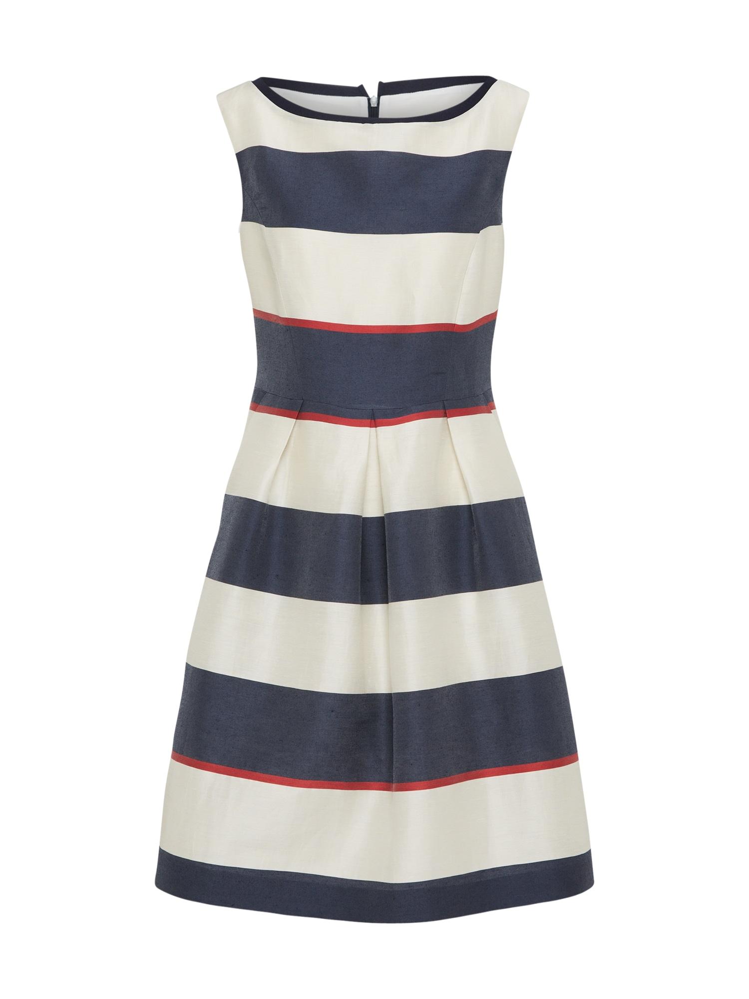 Koktejlové šaty námořnická modř bílá RENÉ LEZARD
