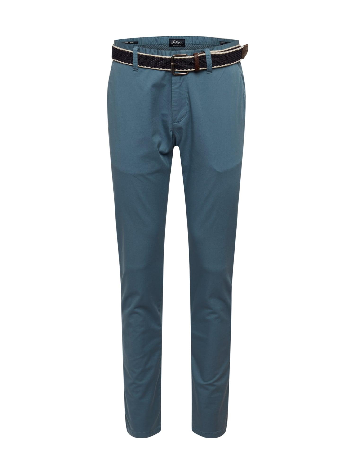 s.Oliver Chino nohavice  modrá denim