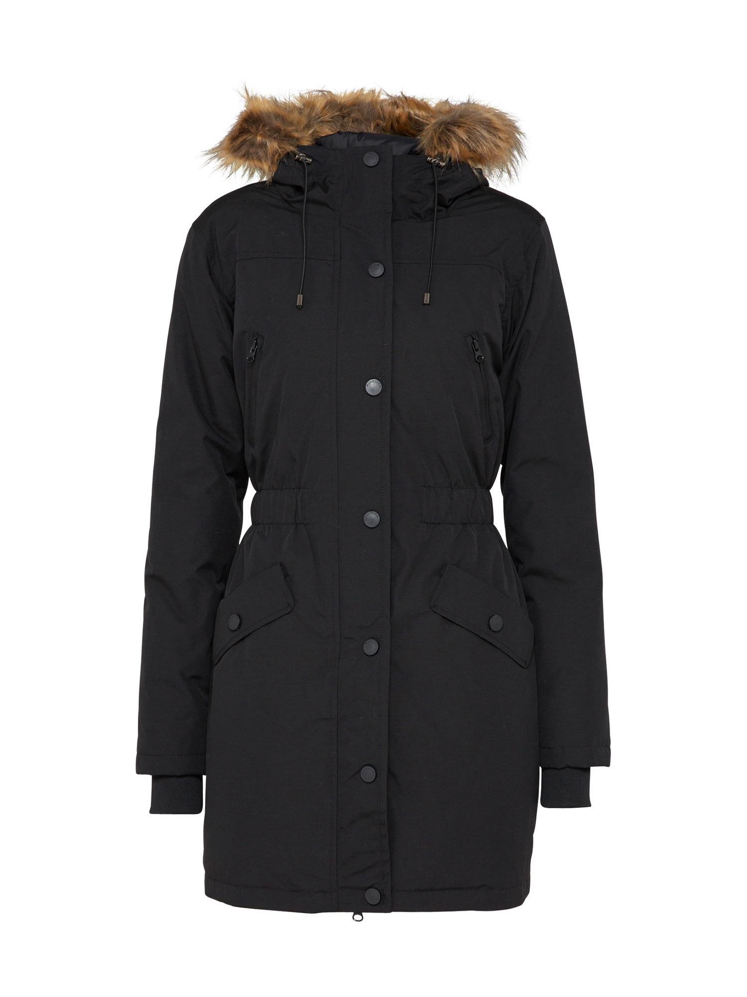 Zimní bunda Gone Faux černá Modström