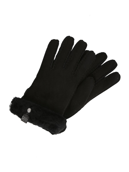 Handschuhe für Frauen - UGG Handschuhe 'Shorty Glove with leather trim' schwarz  - Onlineshop ABOUT YOU