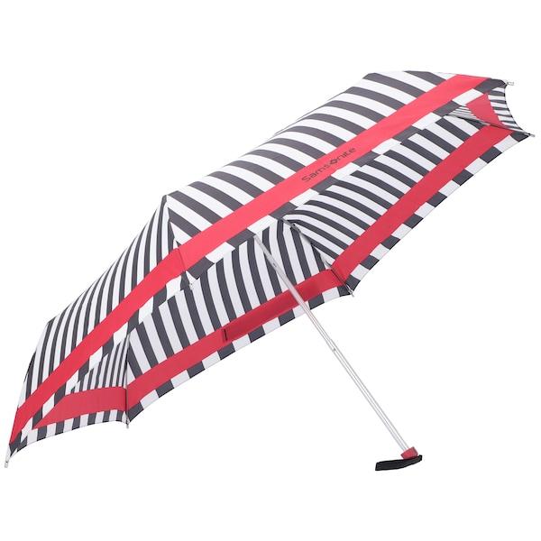 Regenschirme für Frauen - SAMSONITE Taschenschirm 'R Pattern' feuerrot schwarz weiß  - Onlineshop ABOUT YOU