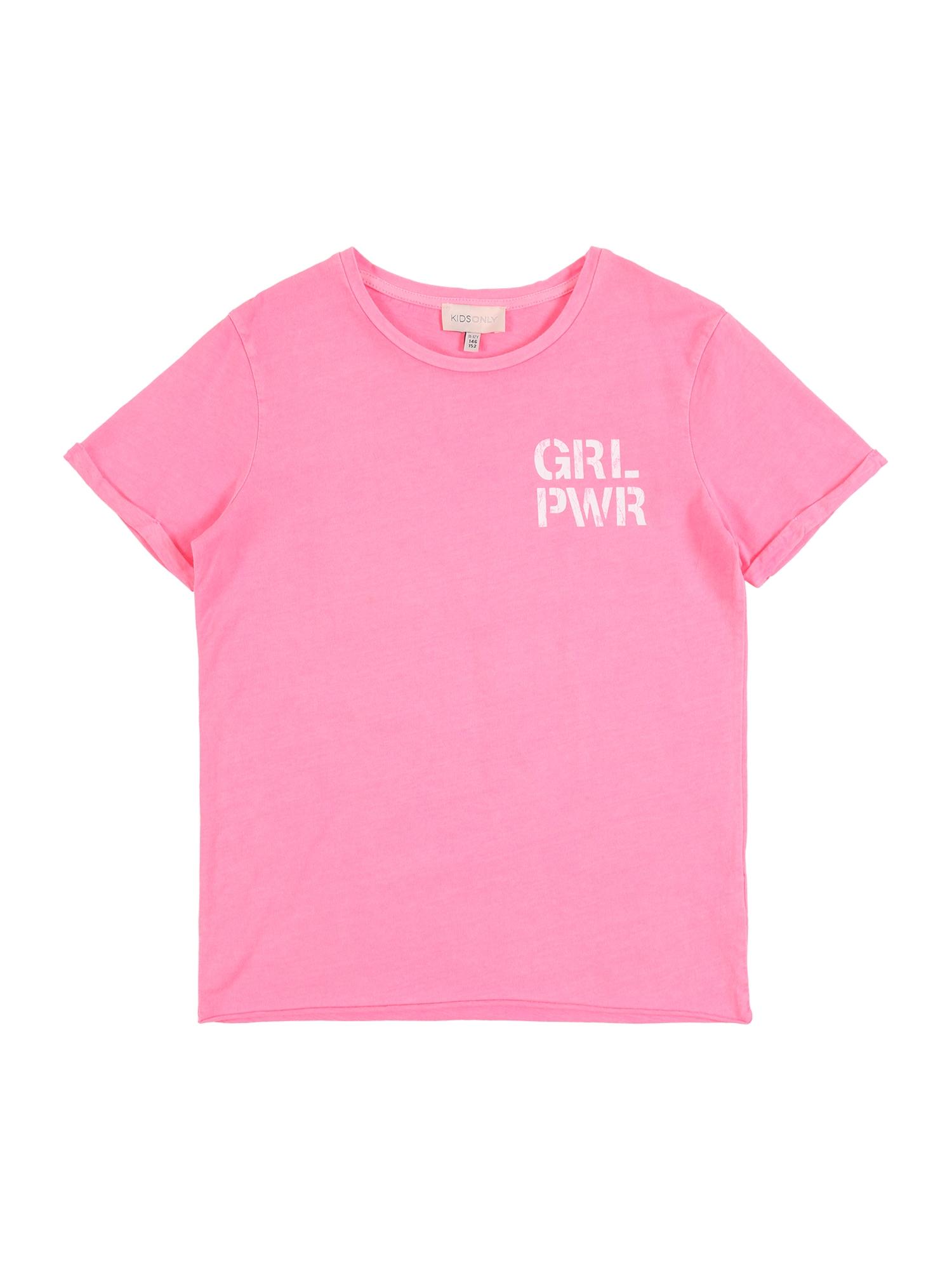 KIDS ONLY Marškinėliai neoninė rožinė