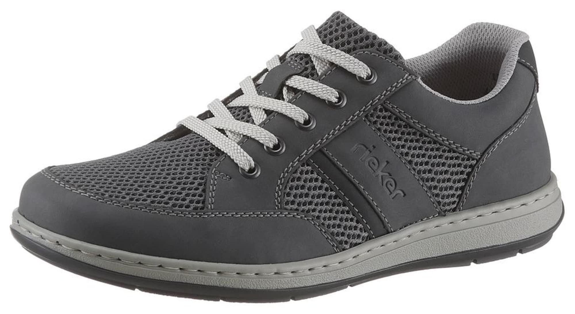 RIEKER Sportinio stiliaus batai su raišteliais pilka