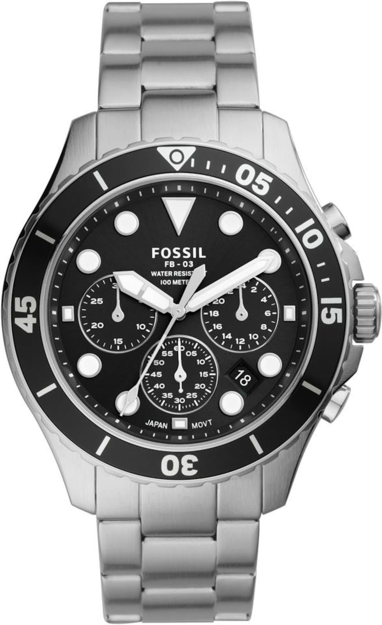 FOSSIL Analoginis (įprasto dizaino) laikrodis sidabrinė