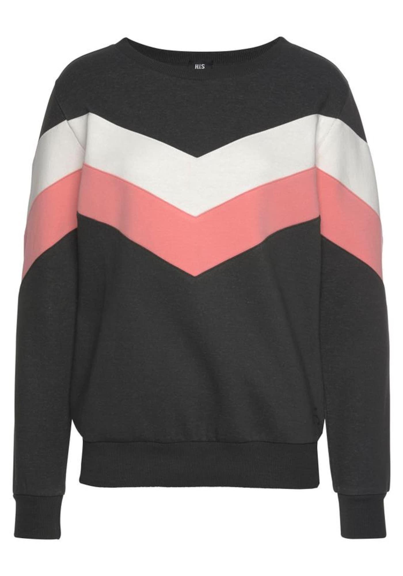 HIS JEANS Megztinis be užsegimo šviesiai rožinė / juoda / natūrali balta