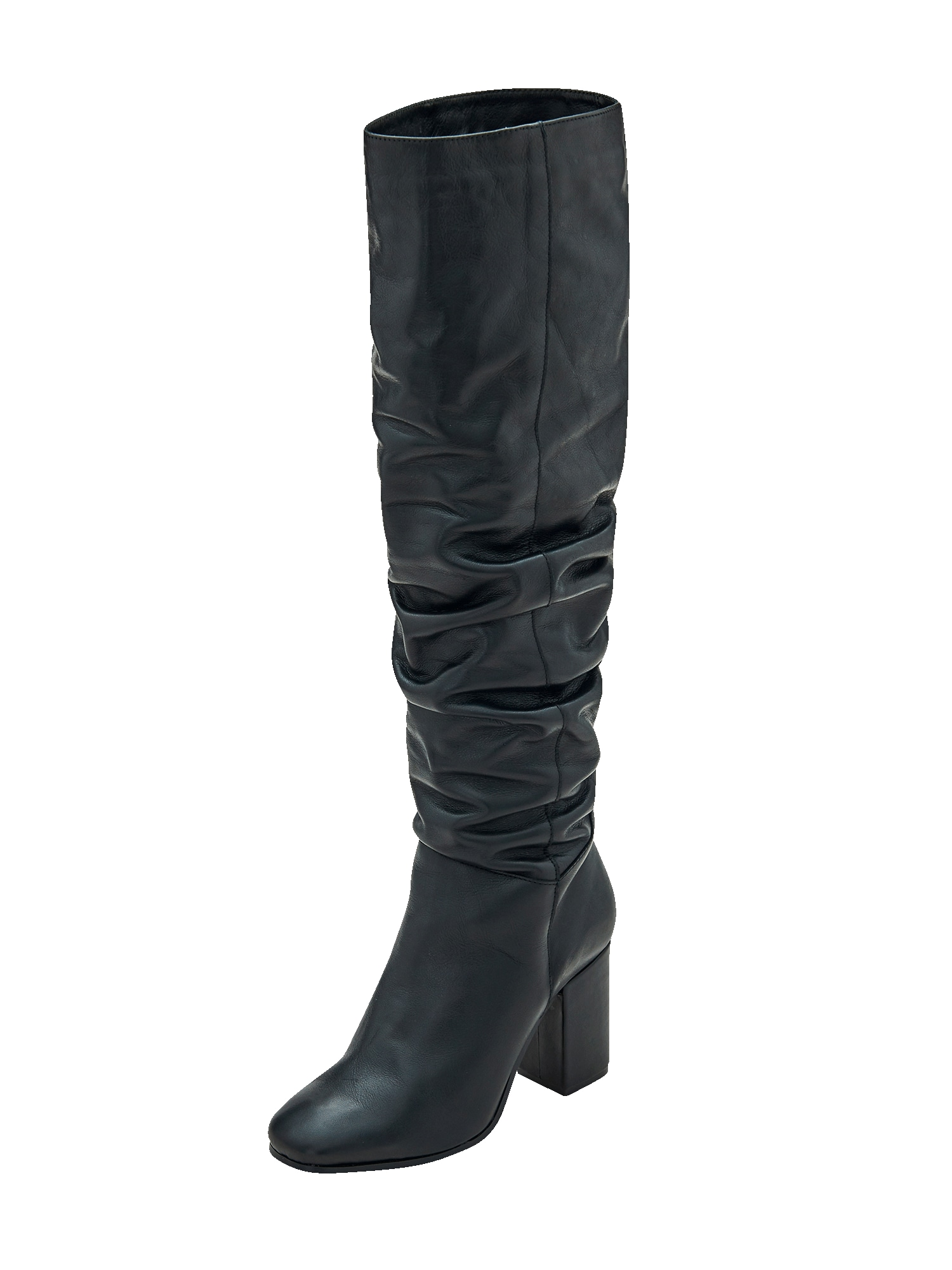 EDITED Ilgaauliai batai virš kelių 'Martje' juoda