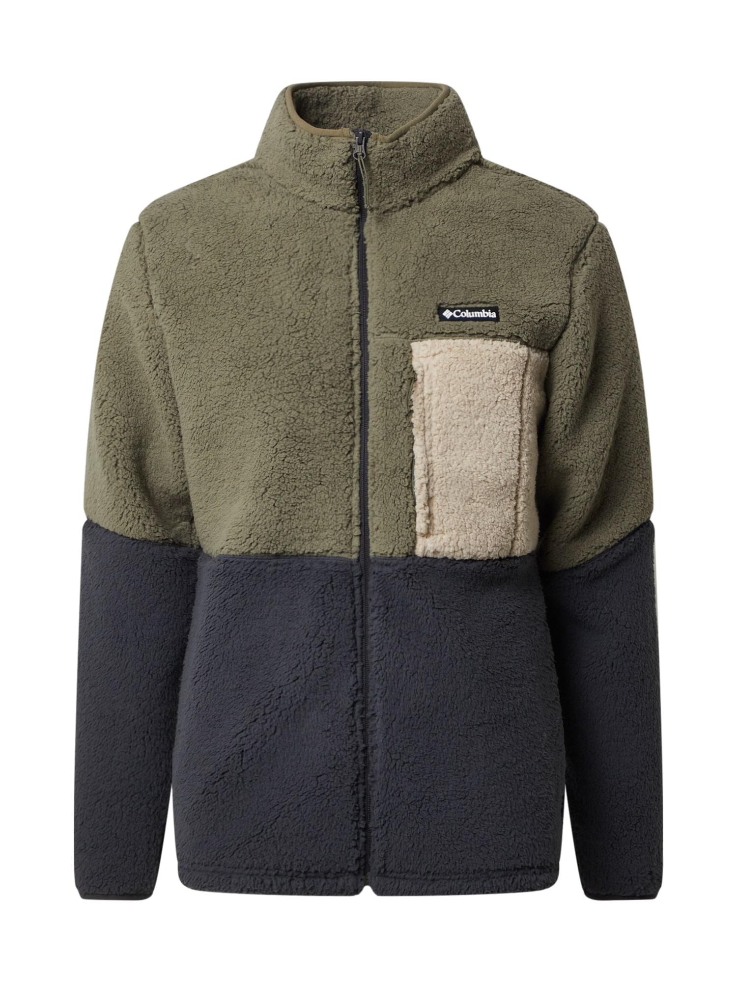 COLUMBIA Sportovní bunda  zelená / tmavě šedá / krémová