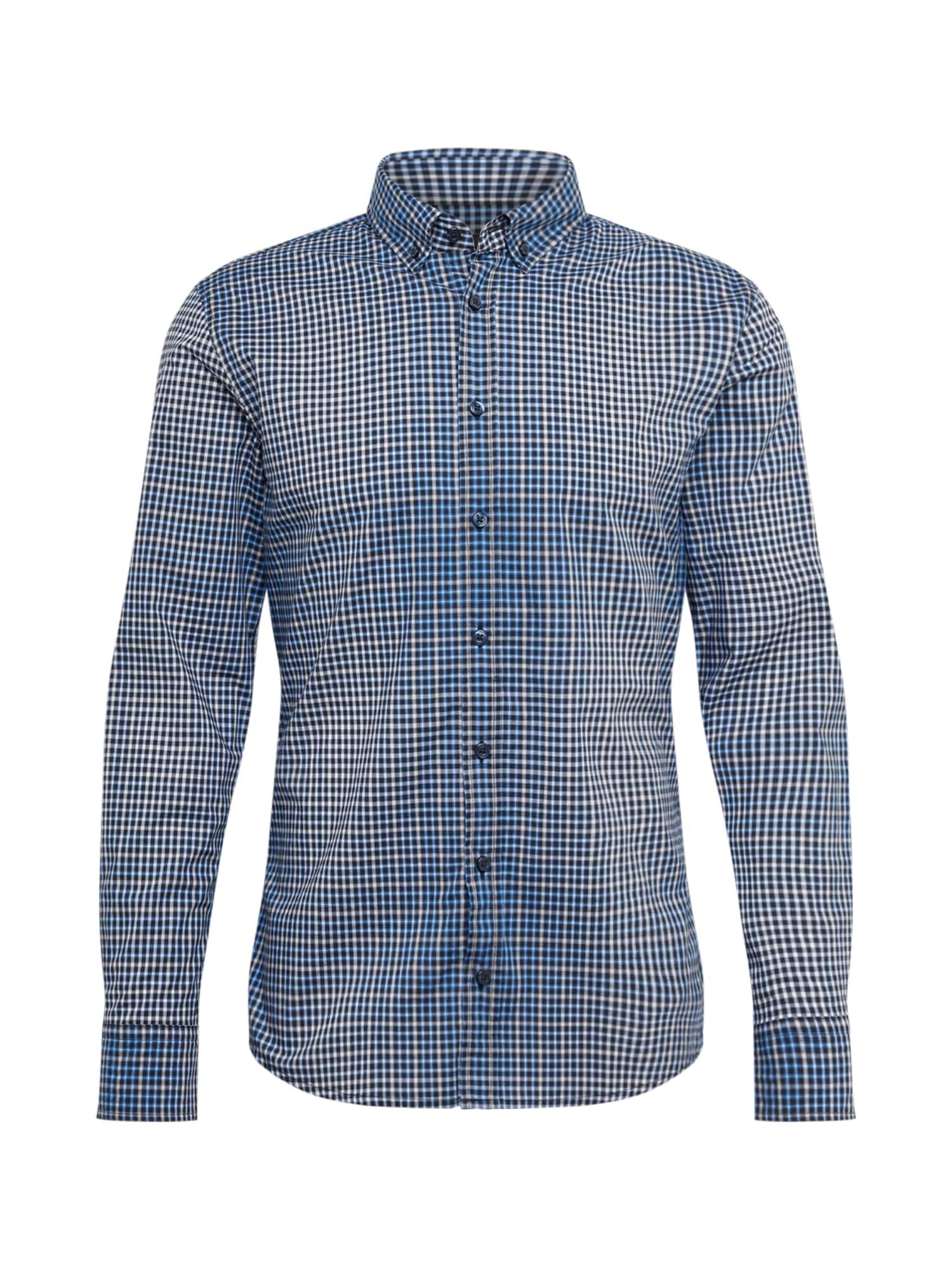 BOSS Dalykiniai marškiniai 'Mabsoot' mėlyna