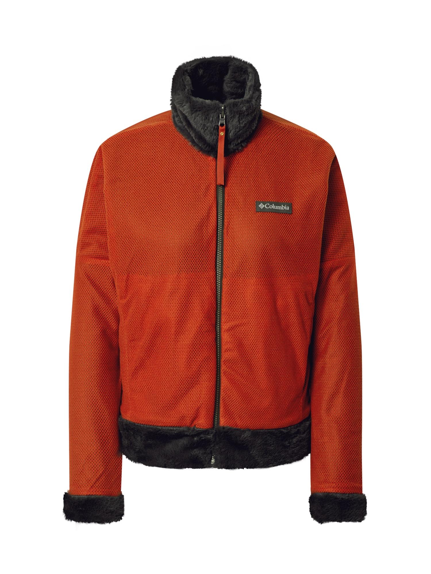 COLUMBIA Flisinis džemperis pilka / oranžinė