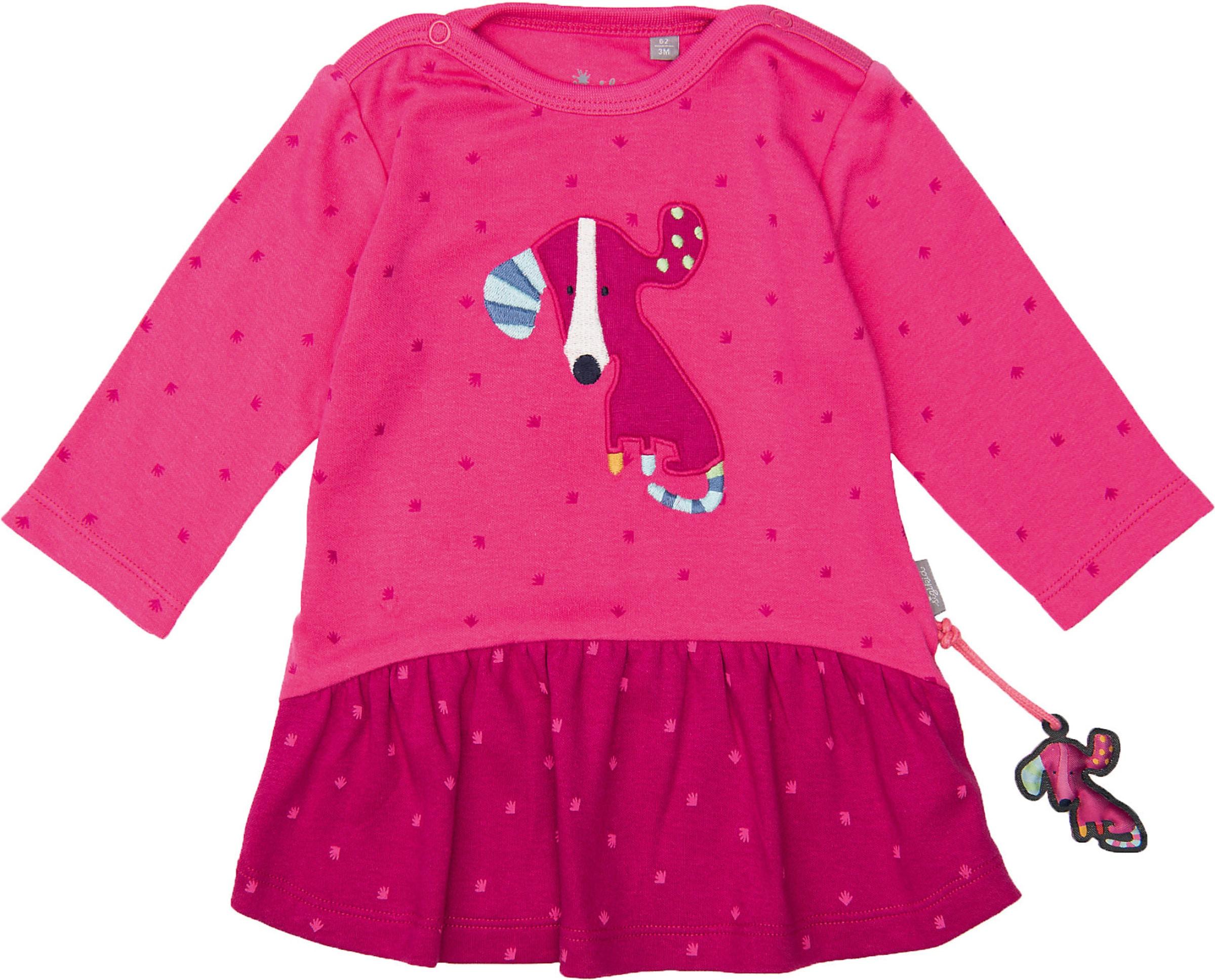 Kinder,  Mädchen,  Kinder SIGIKID Jerseykleid blau, blau,  grau,  weiß, rosa, schwarz | 04045646152153