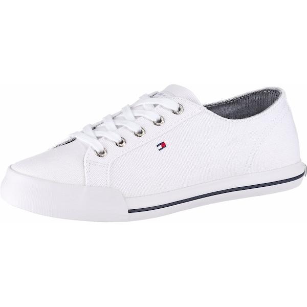 Sneakers für Frauen - Sneaker 'Essential' › Tommy Hilfiger › navy rot weiß  - Onlineshop ABOUT YOU