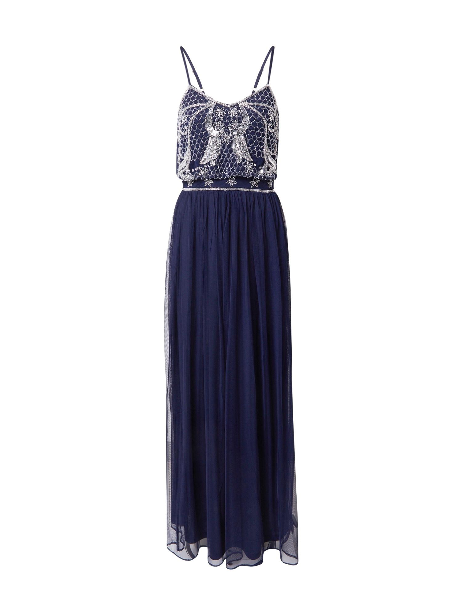 Frock and Frill Vakarinė suknelė sidabrinė / tamsiai mėlyna