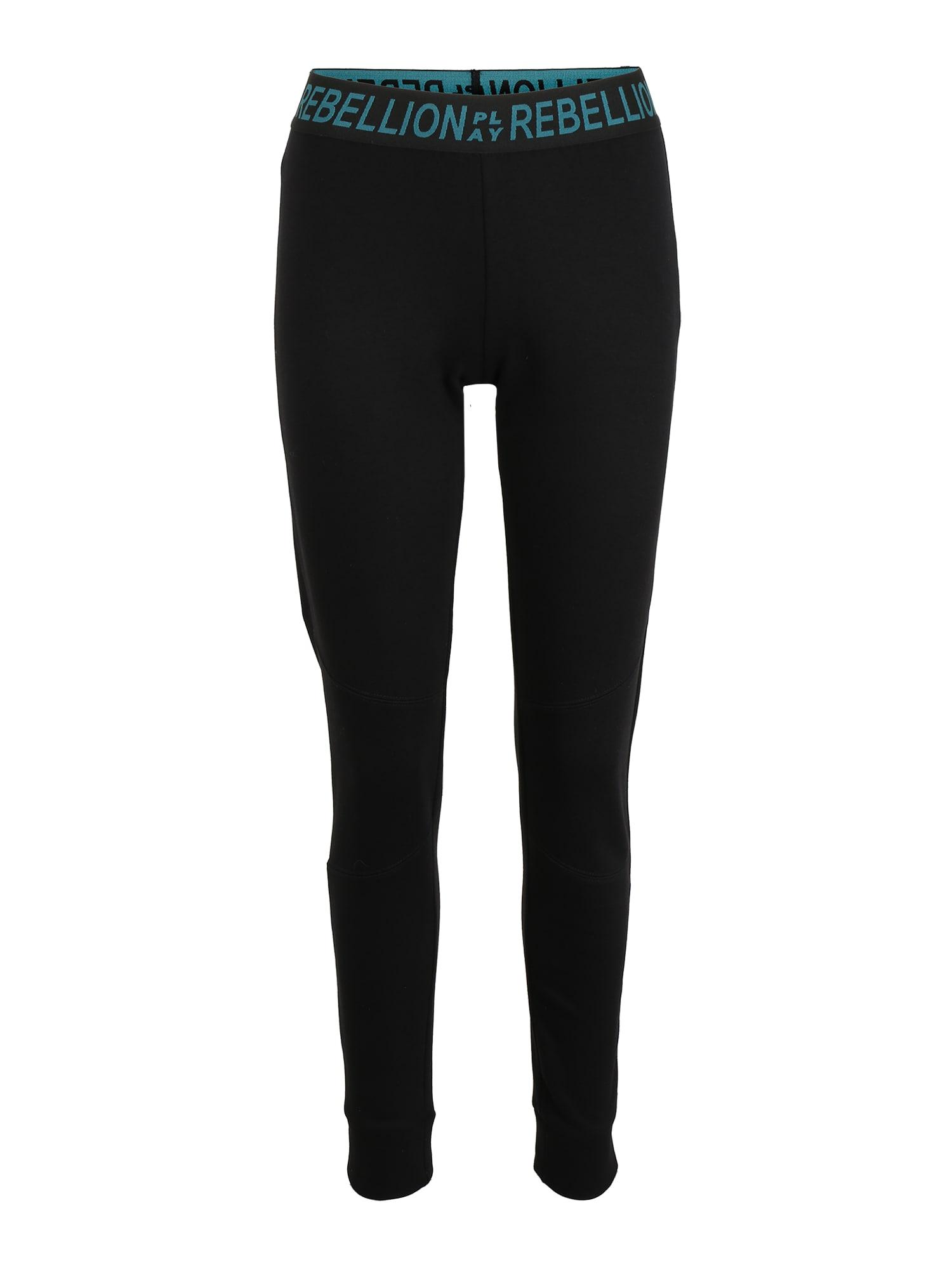 ONLY PLAY Sportinės kelnės 'AERIES' žalia / juoda