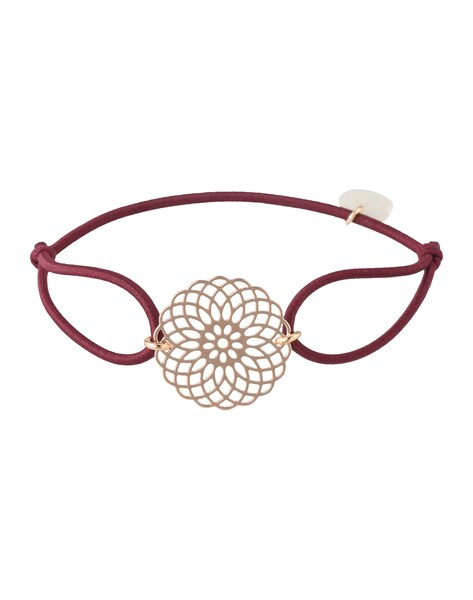 Armbaender für Frauen - Lua Accessories Armband 'Sun' rosegold bordeaux  - Onlineshop ABOUT YOU