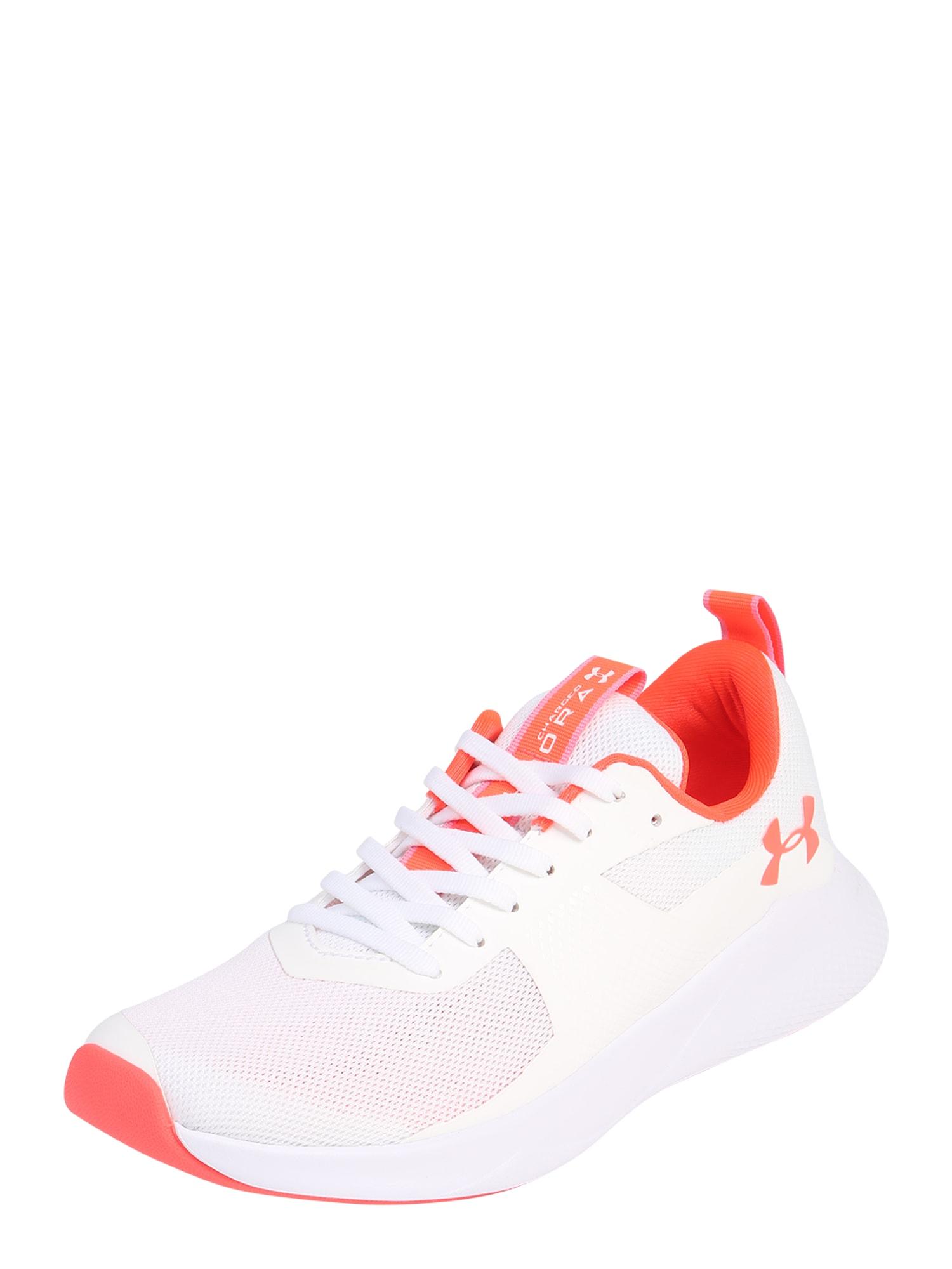 UNDER ARMOUR Bėgimo batai 'UA W Charged Aurora' balta / oranžinė
